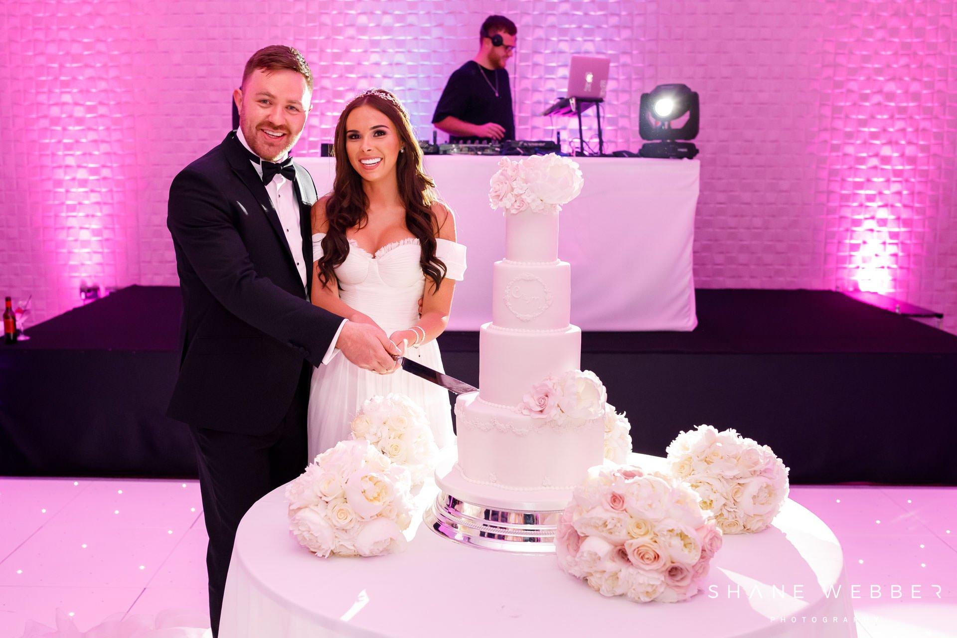 White four tier wedding cake