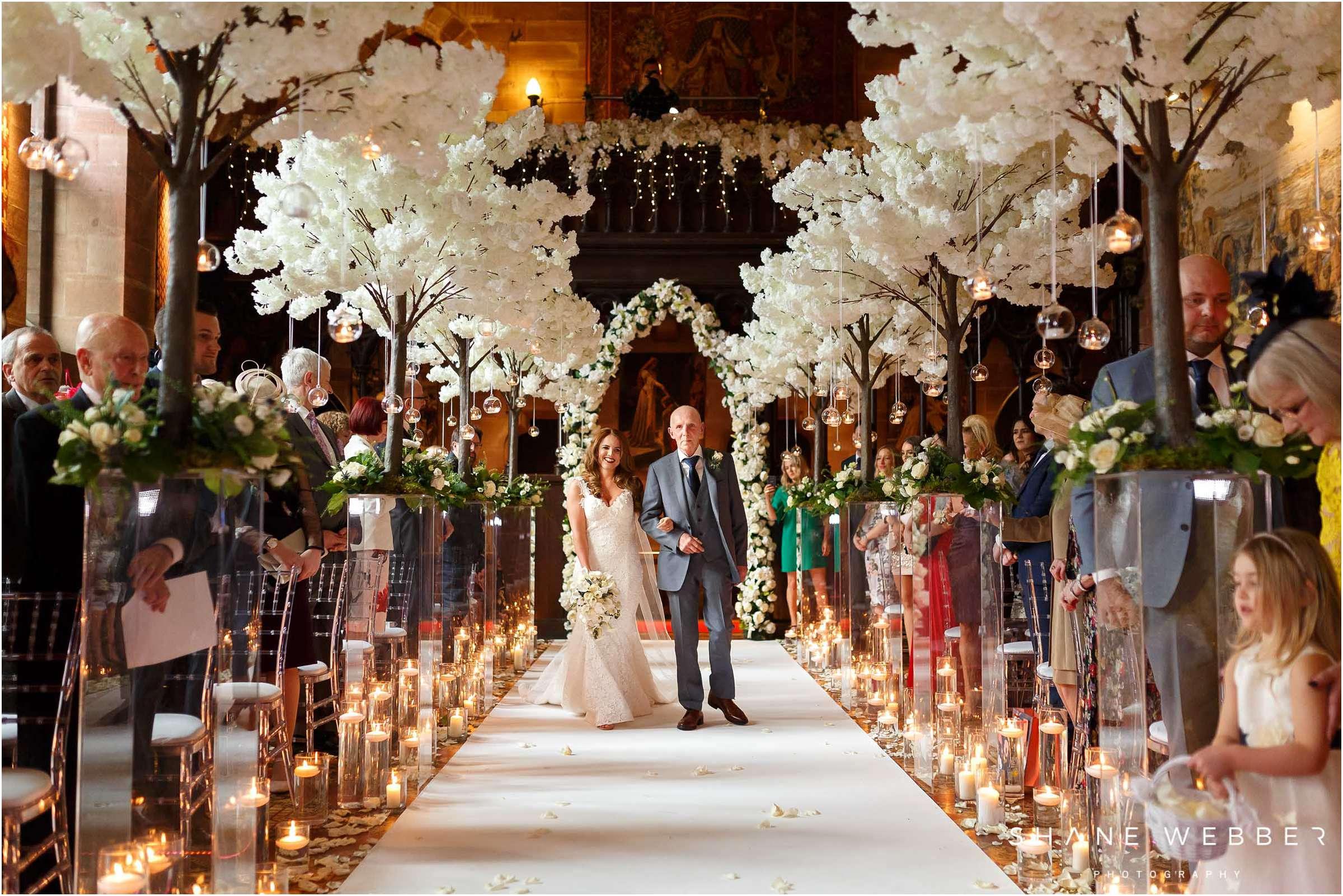 peckforton castle wedding ceremony