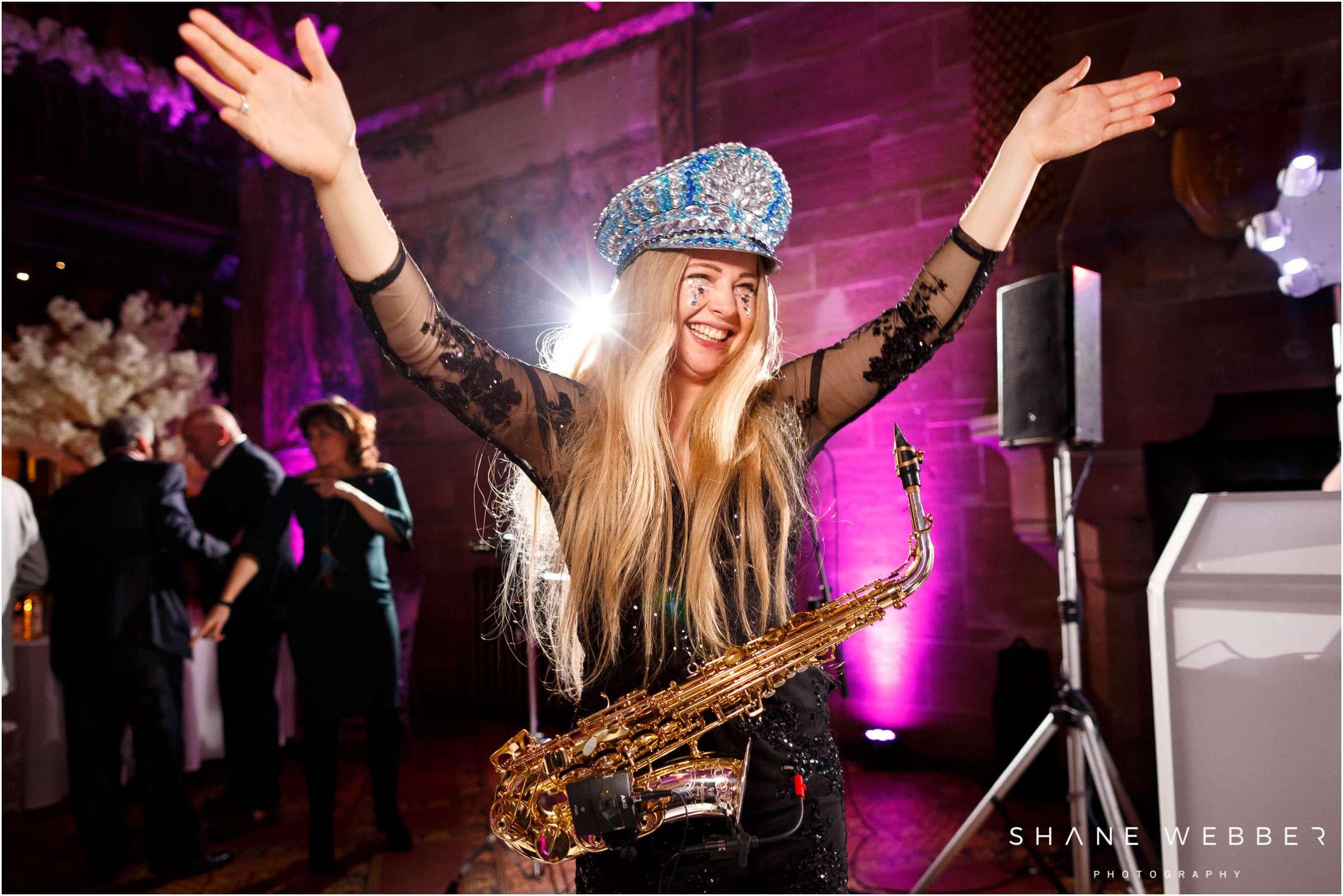 girl on sax