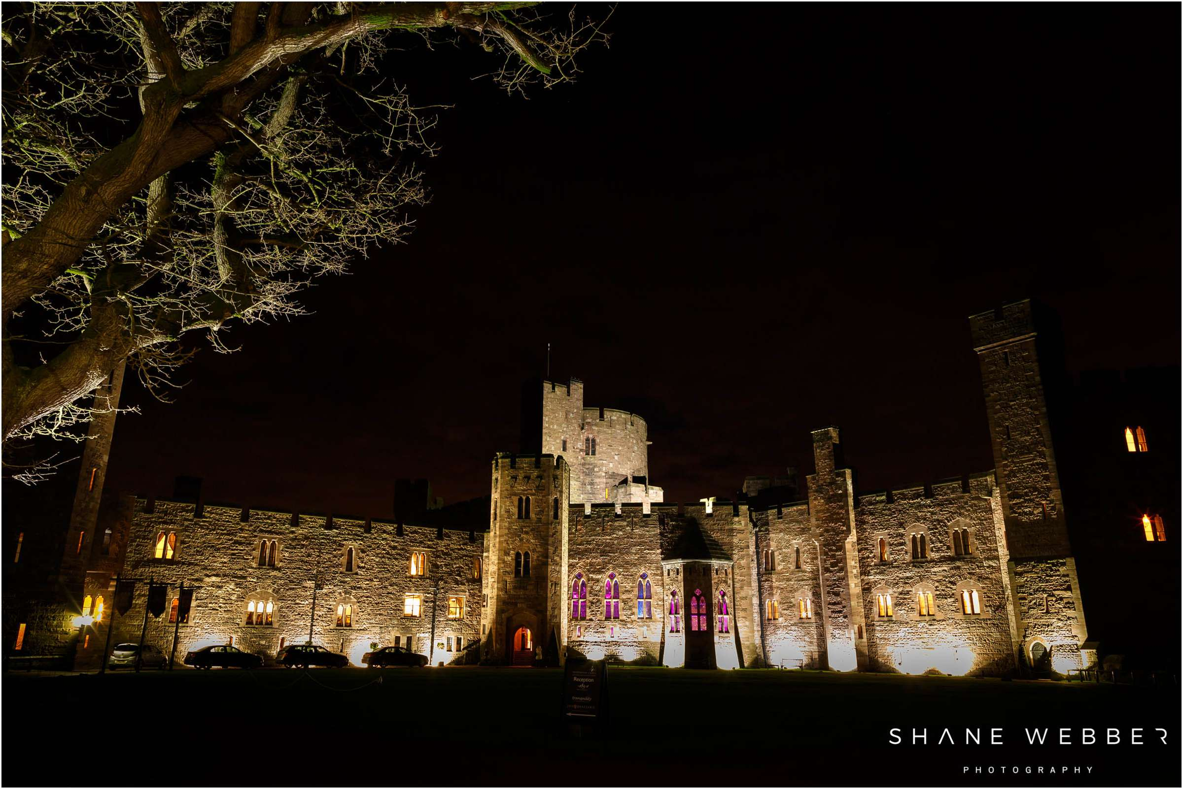 peckforton castle at night