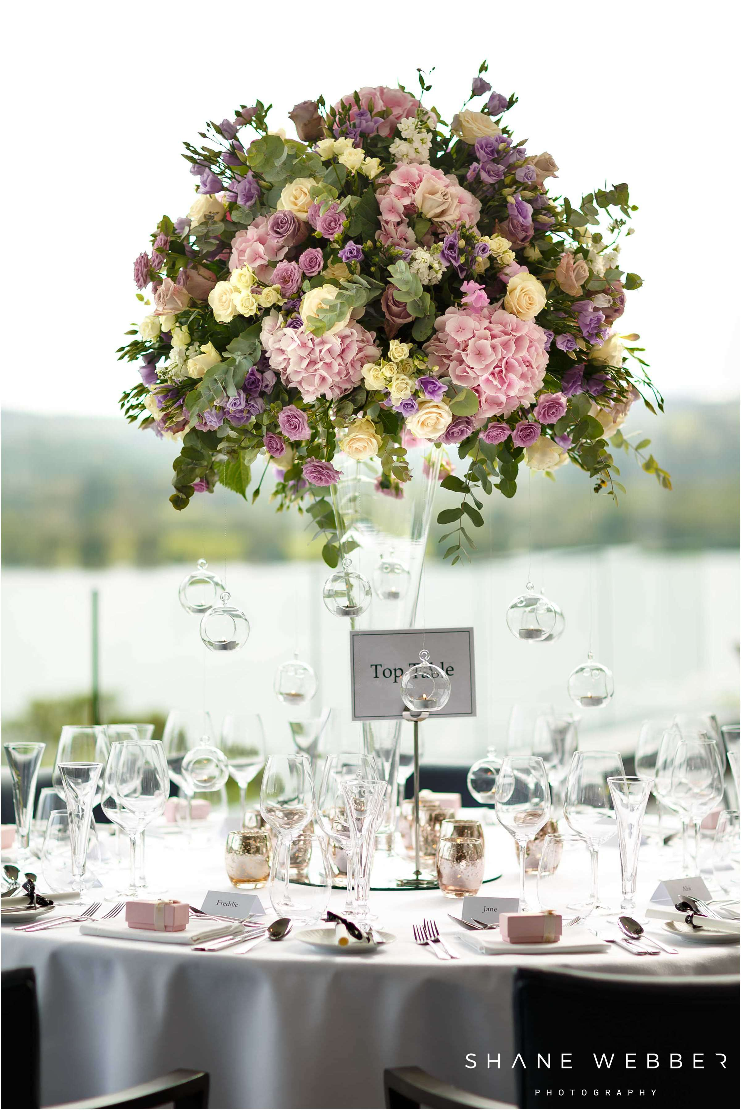 large flower table centrepiece