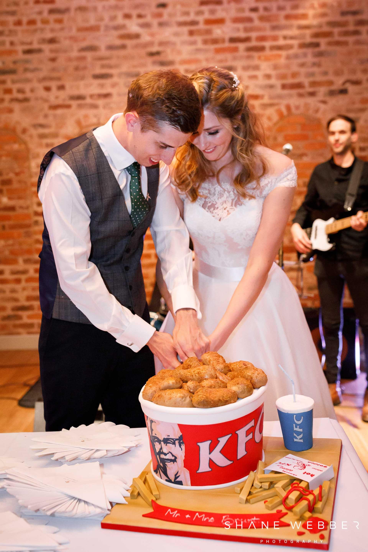 unusual KFC wedding cake design