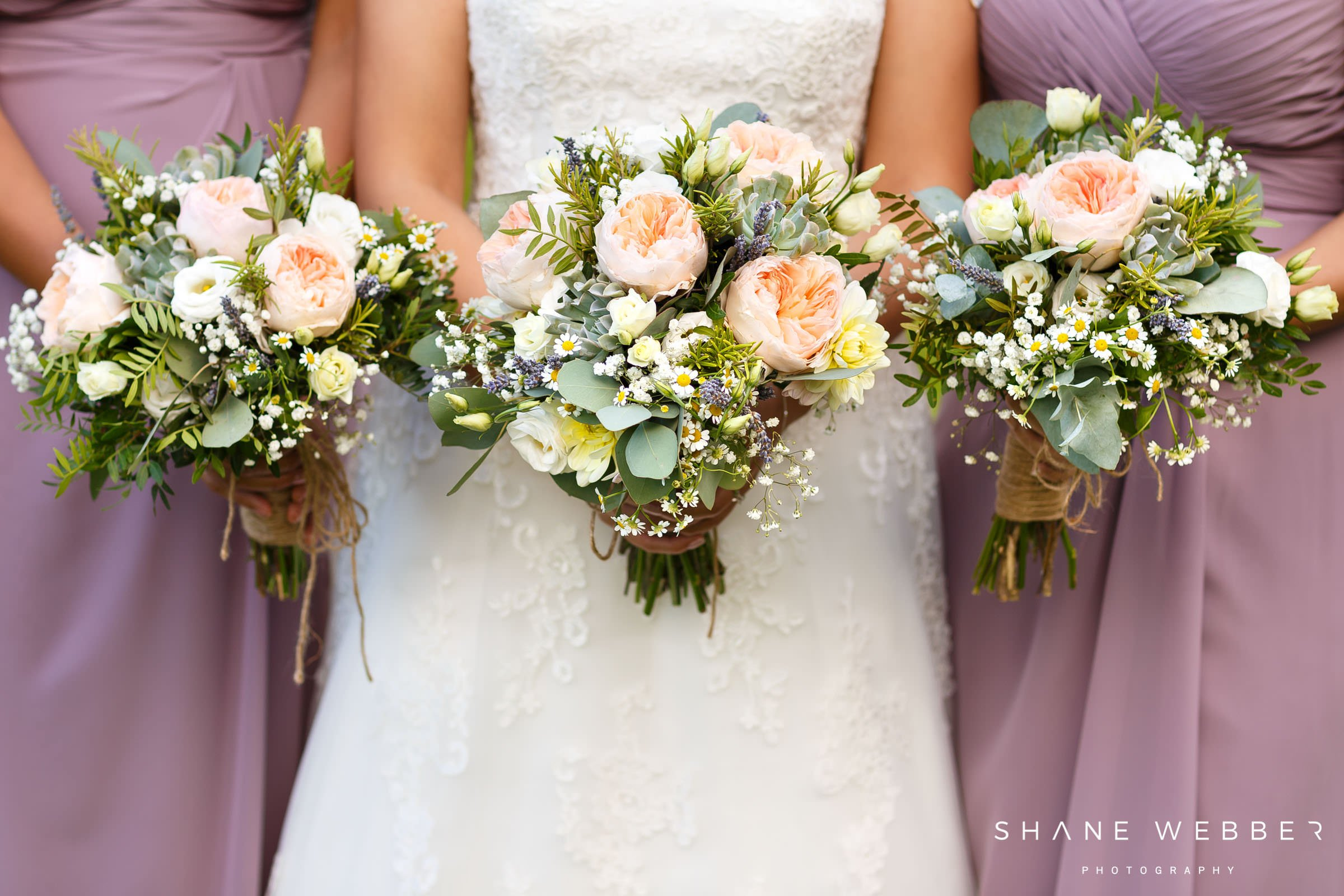 delicate pink peony wedding flowers