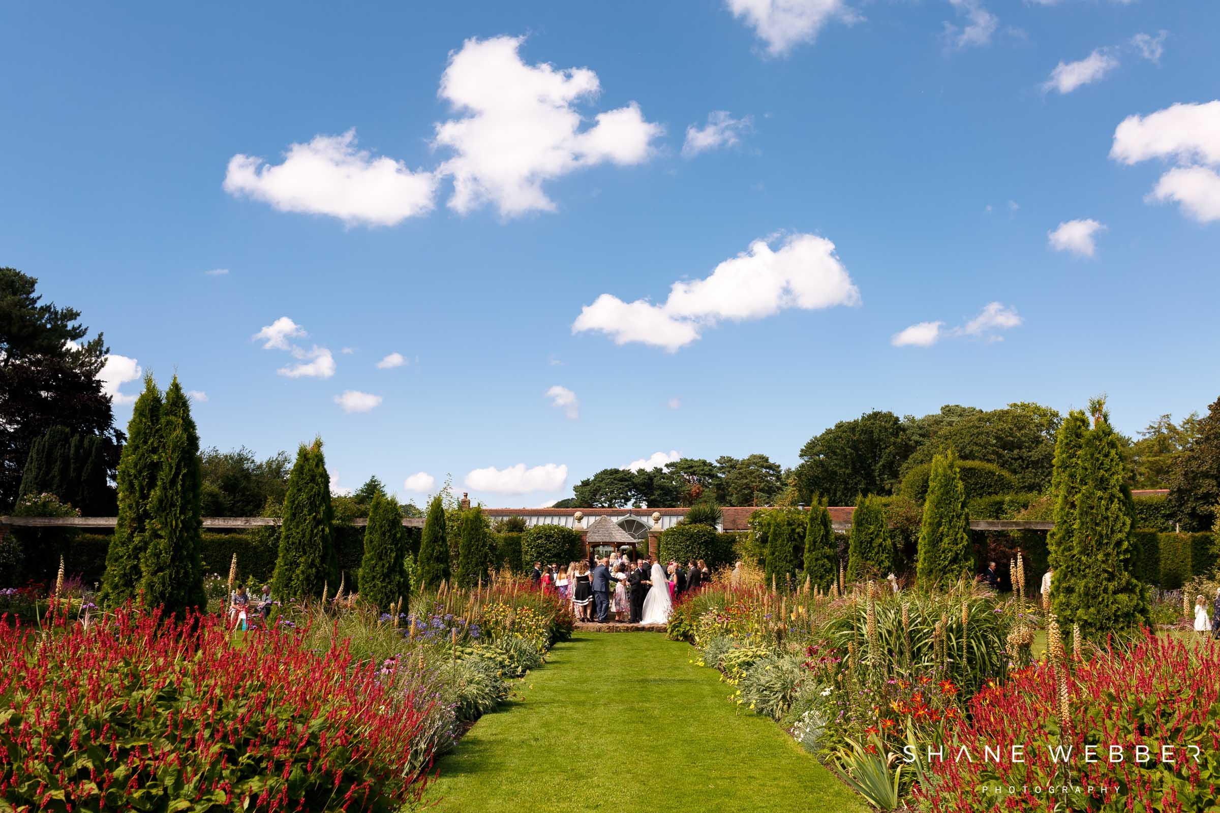 arley hall outdoor wedding ceremony