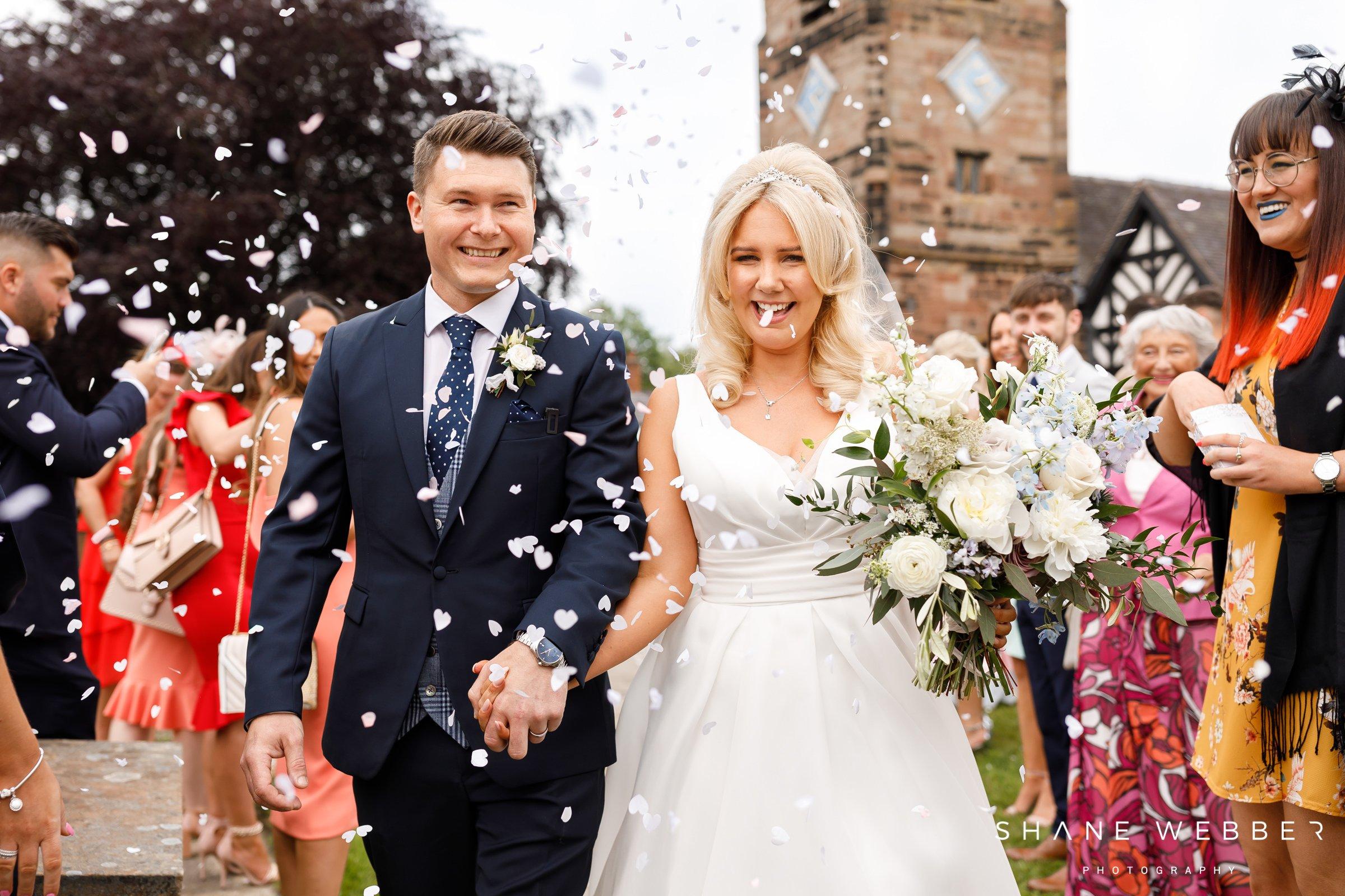when should you throw wedding confetti