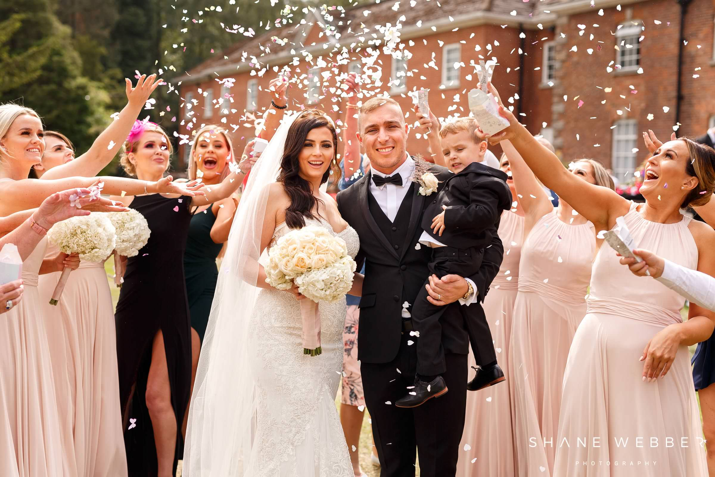 Mottram Hall confetti wedding photo