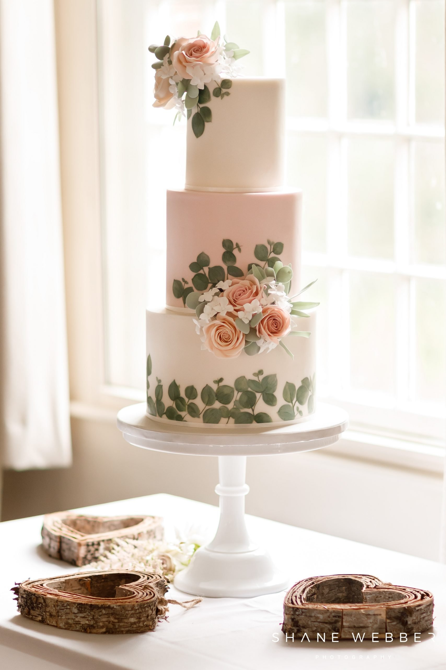 Pink Cocoa wedding cake
