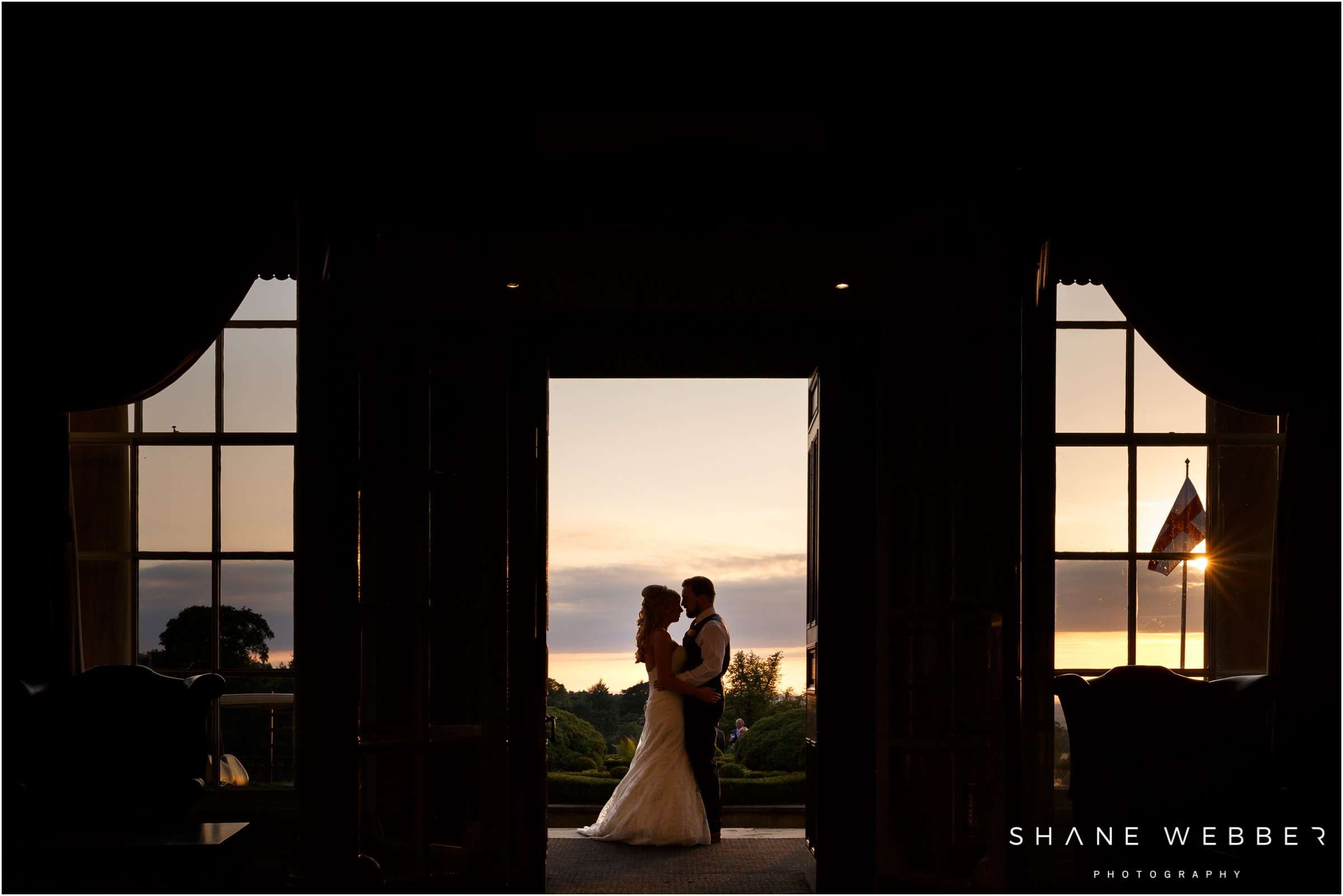 sunset photo at shrigley hall