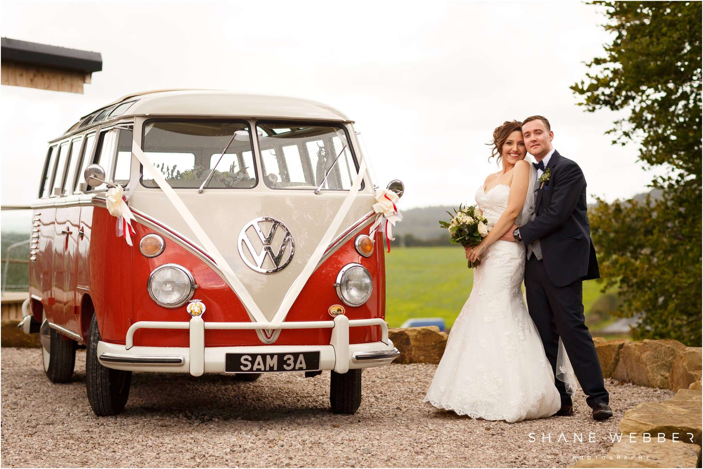 VW campervan wedding
