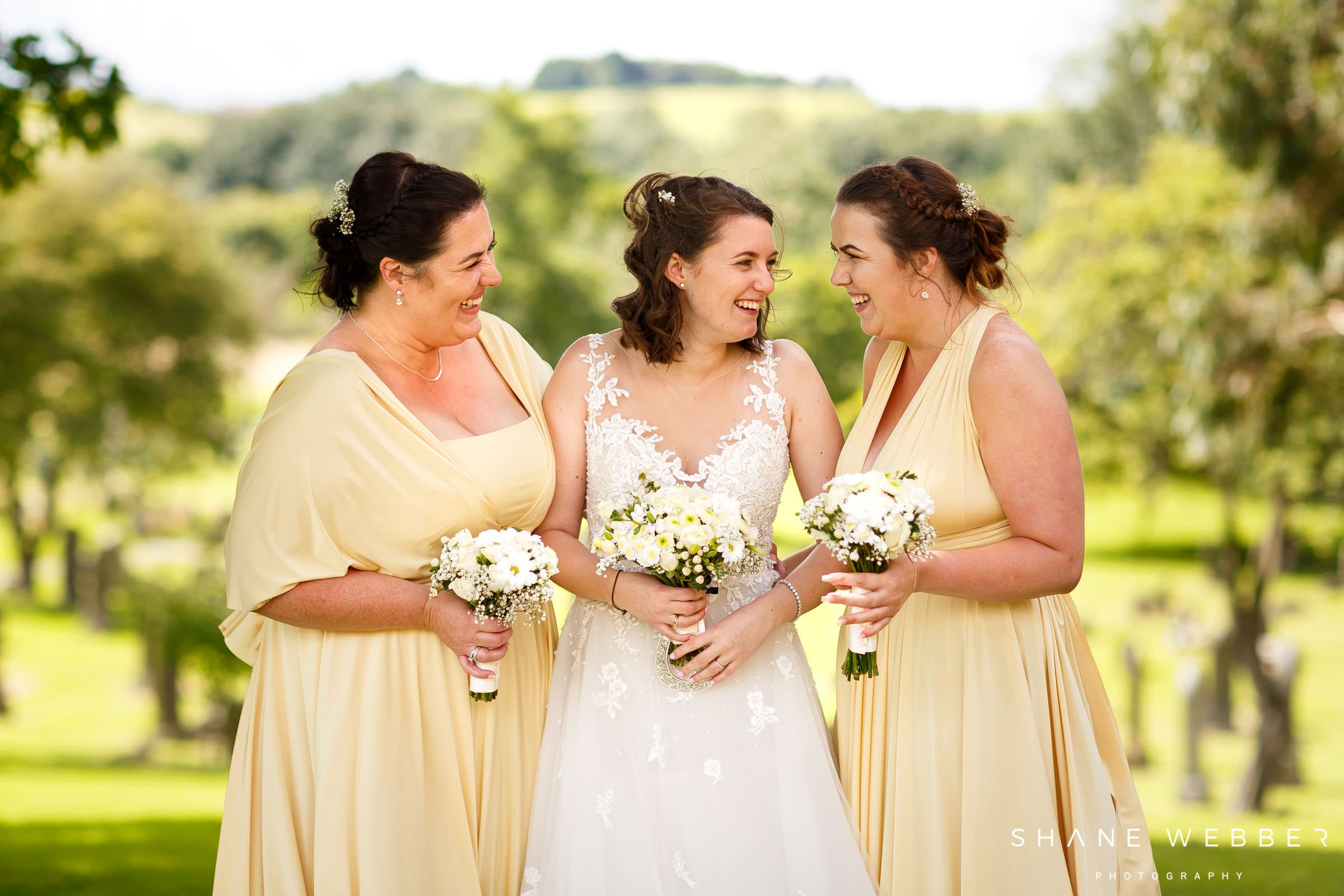 yellow silk bridesmaid dresses