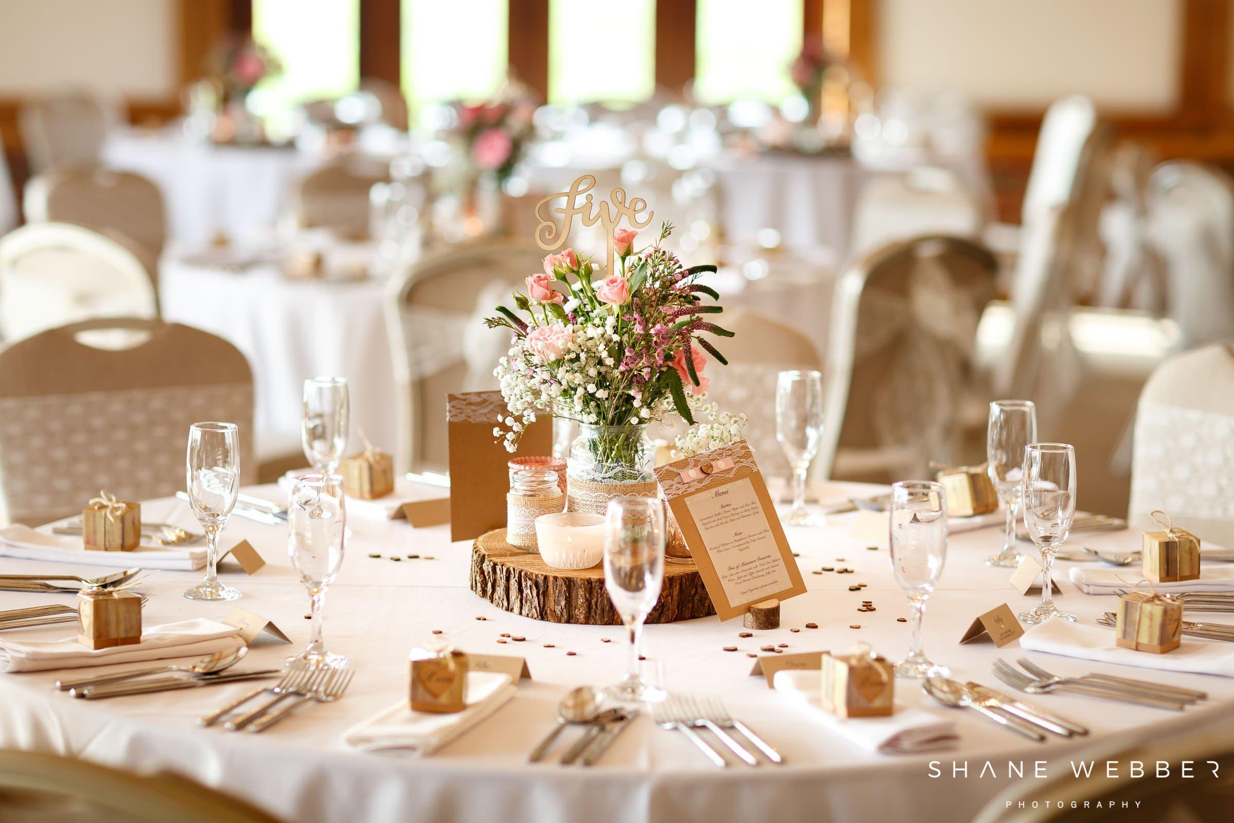 Sandhole Oak Barn wedding decor