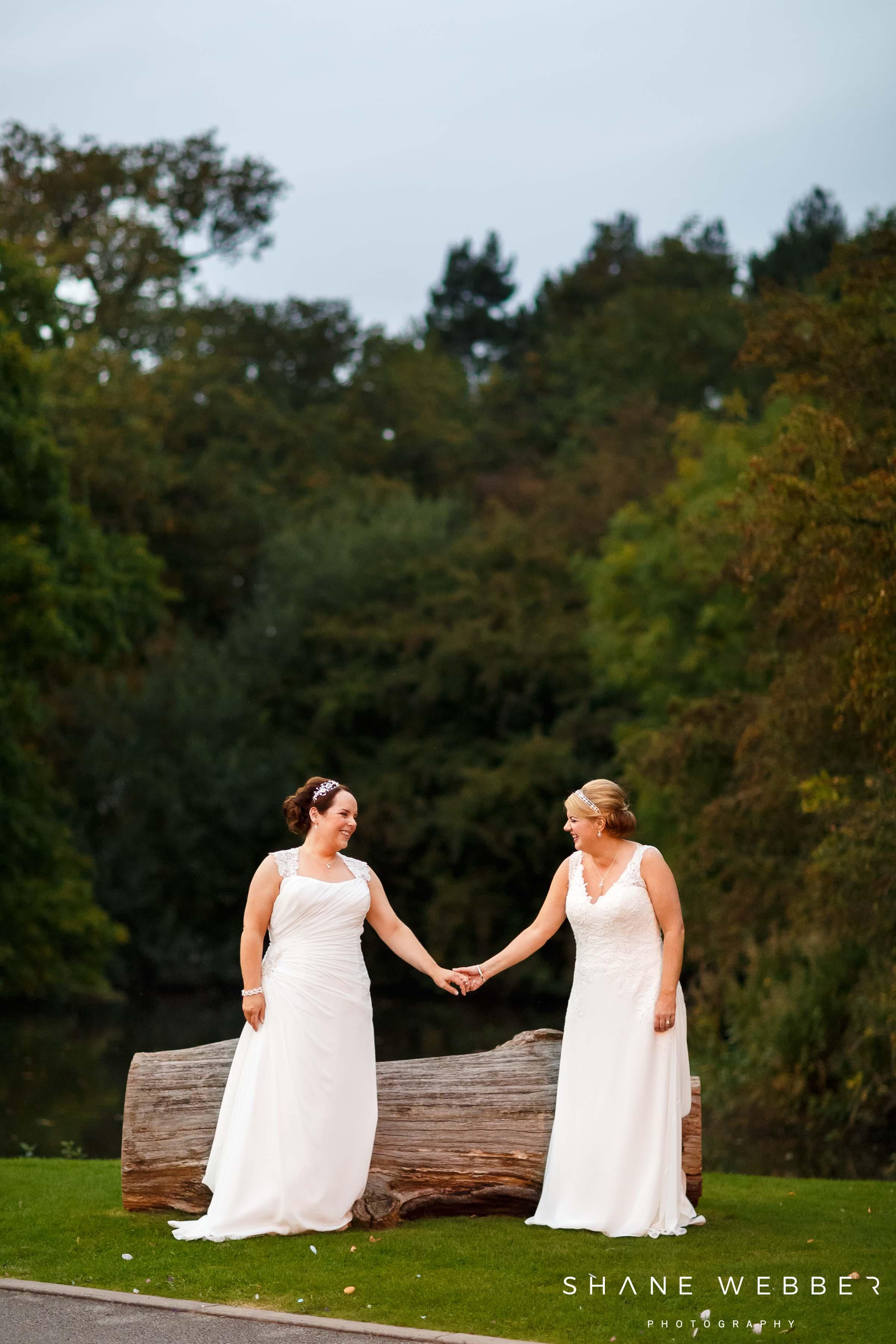 lesbian wedding photo manchester