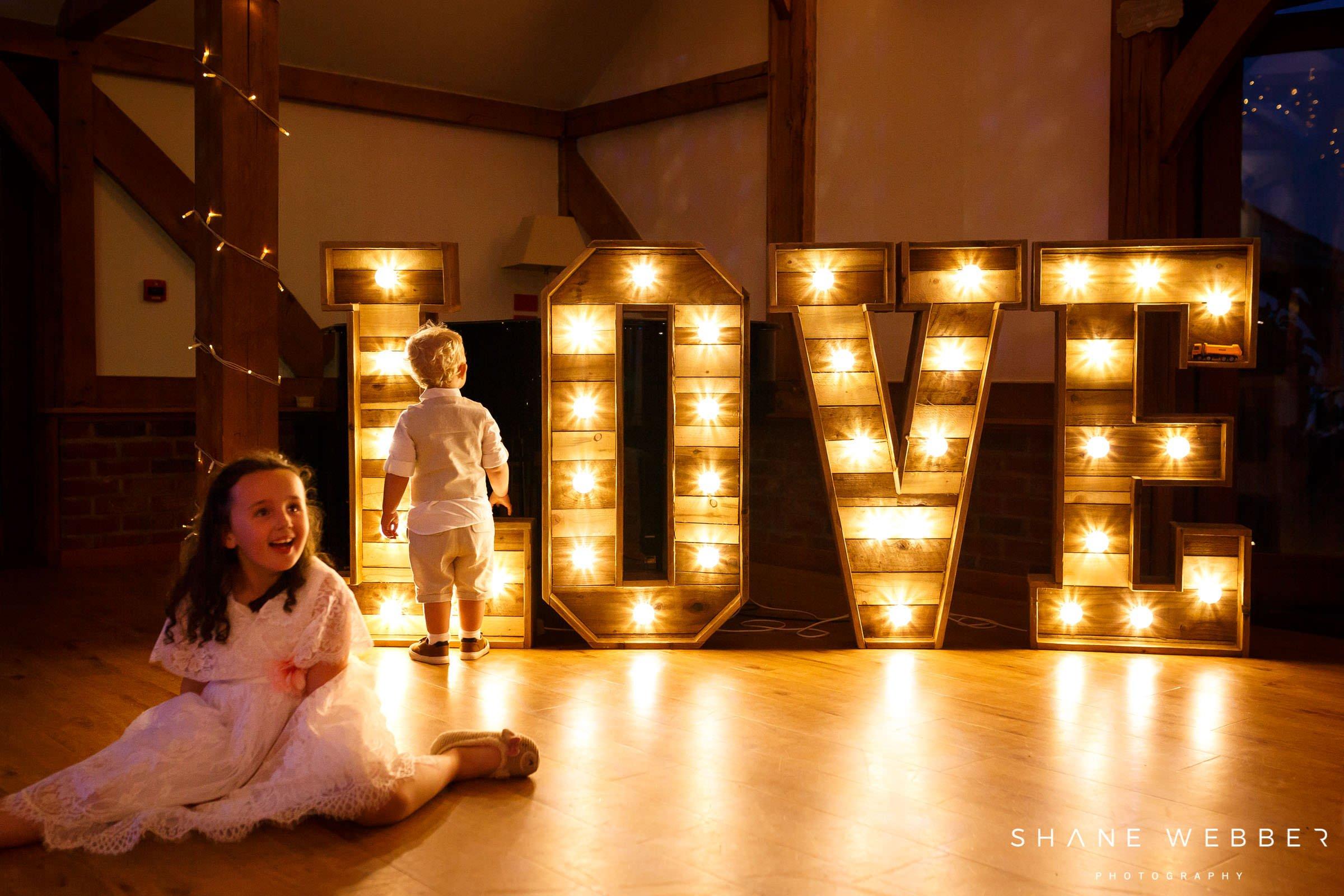 wedding light up love letters