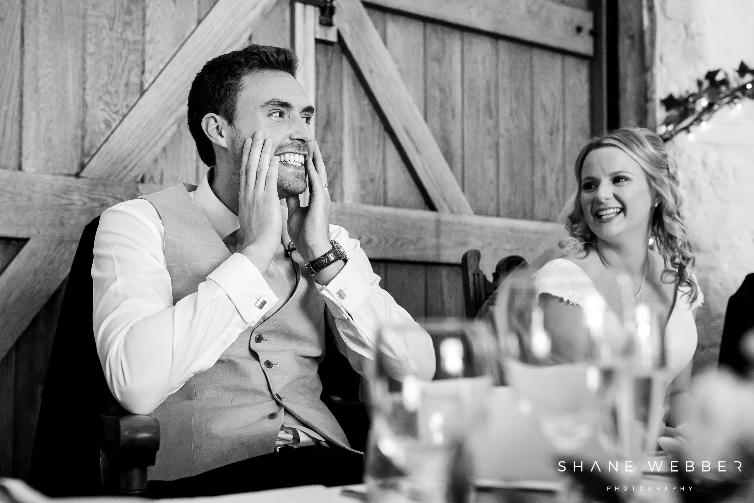 groom reaction to best man speech