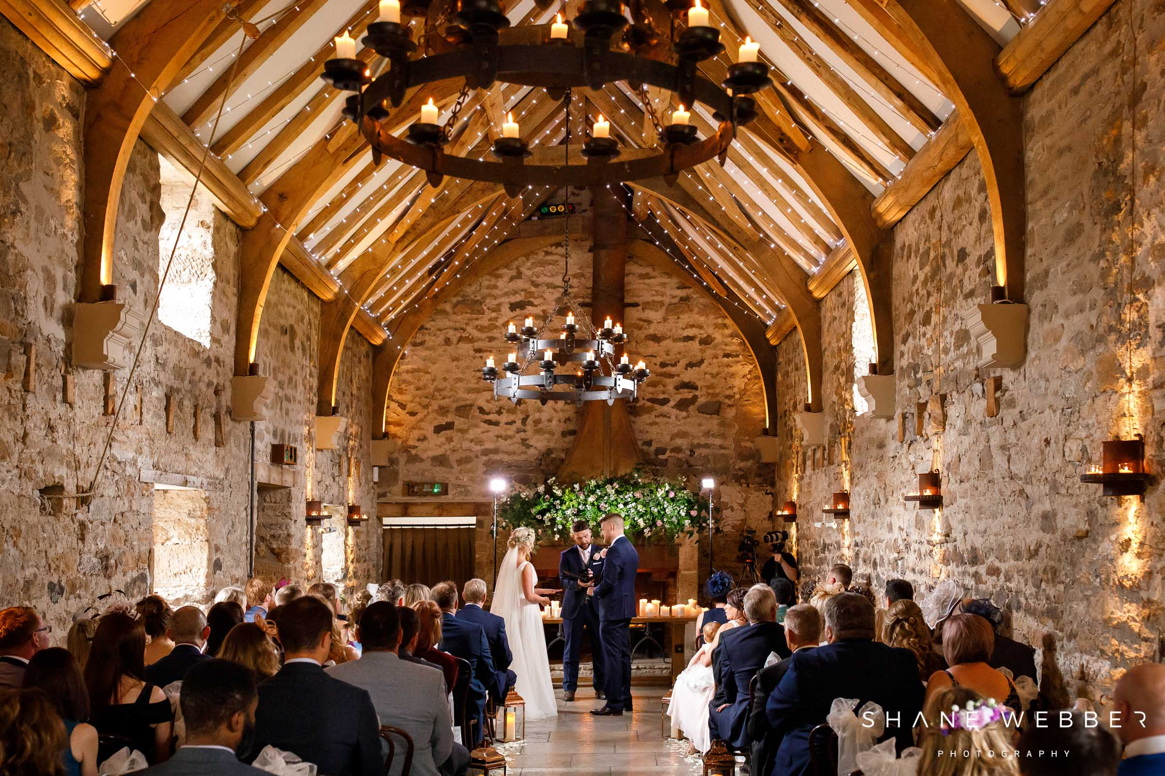 ceremony space at healey barn
