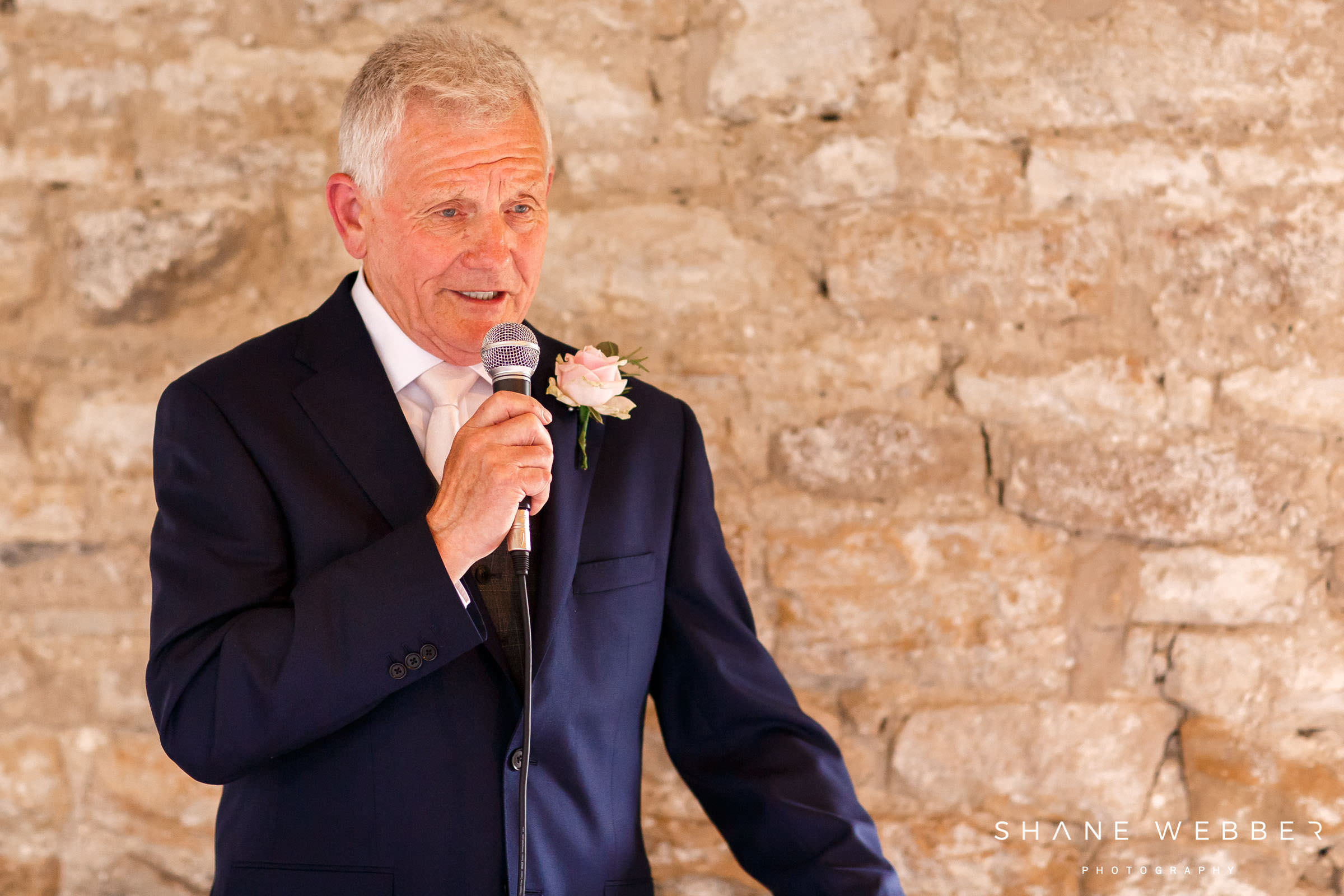 father of the bride delivering speech