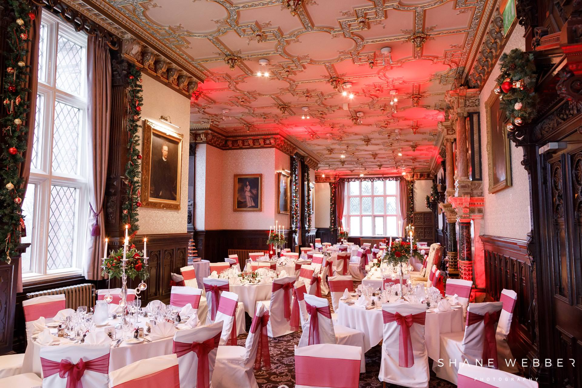 Crewe hall wedding reception