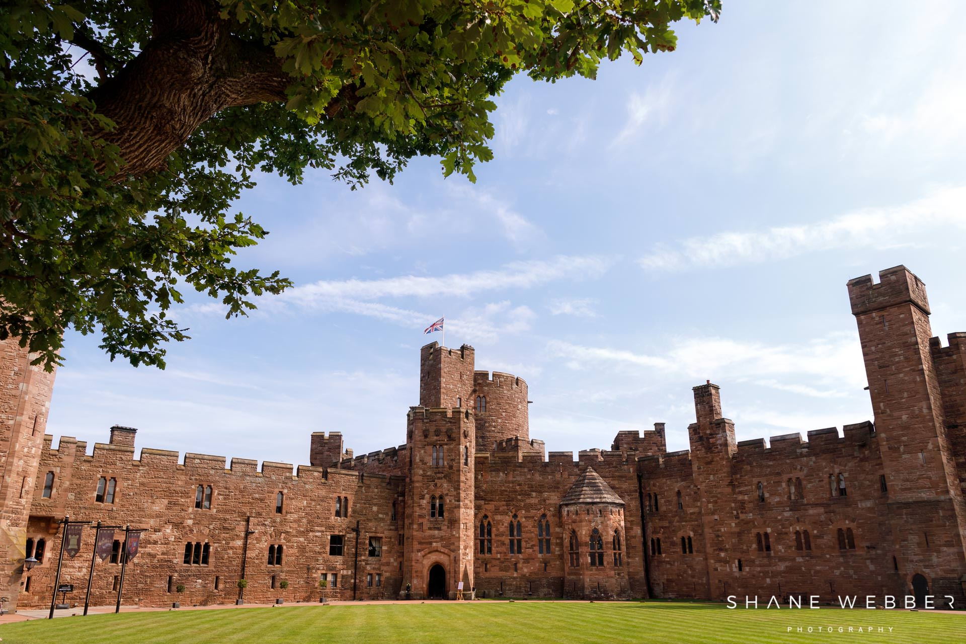 luxury cheshire wedding venue peckforton castle
