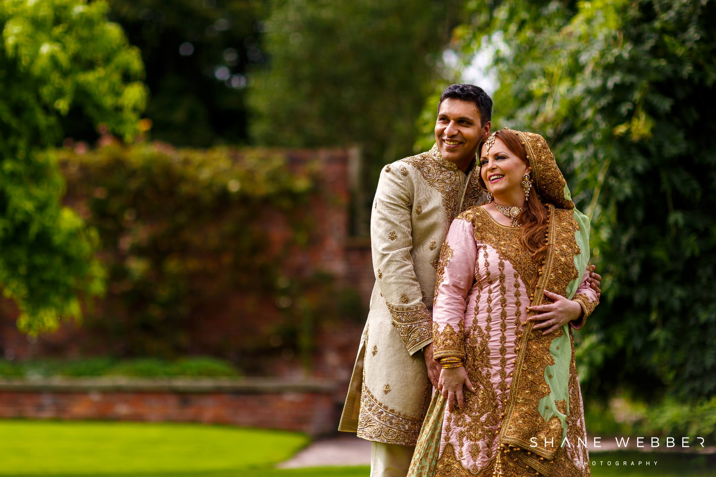 asian wedding photography at Capesthorne Hall