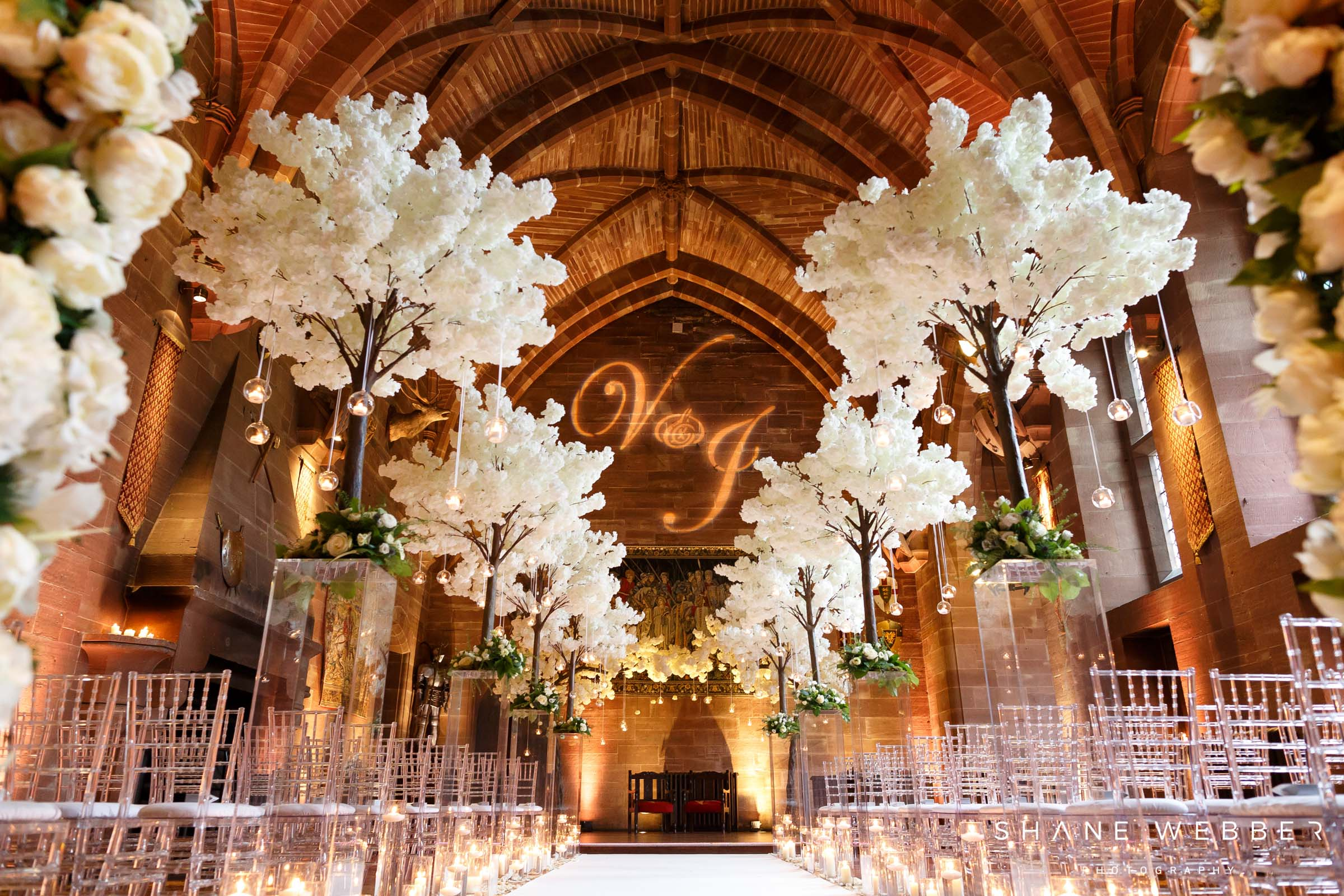 Peckforton castle ceremony room