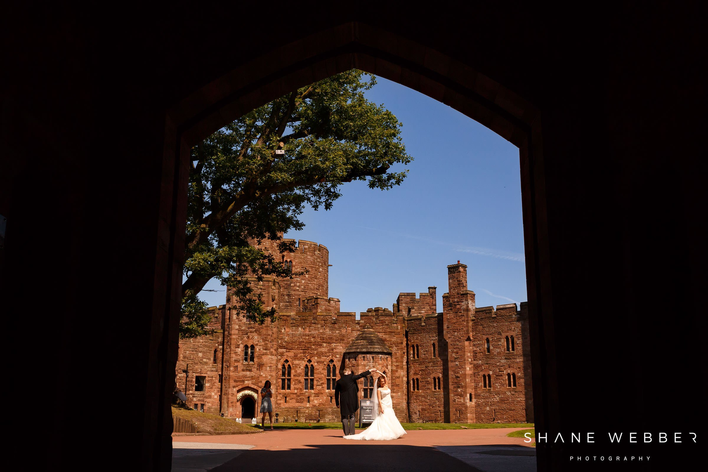 Peckforton Castle Ceremony Room Bride And Groom At