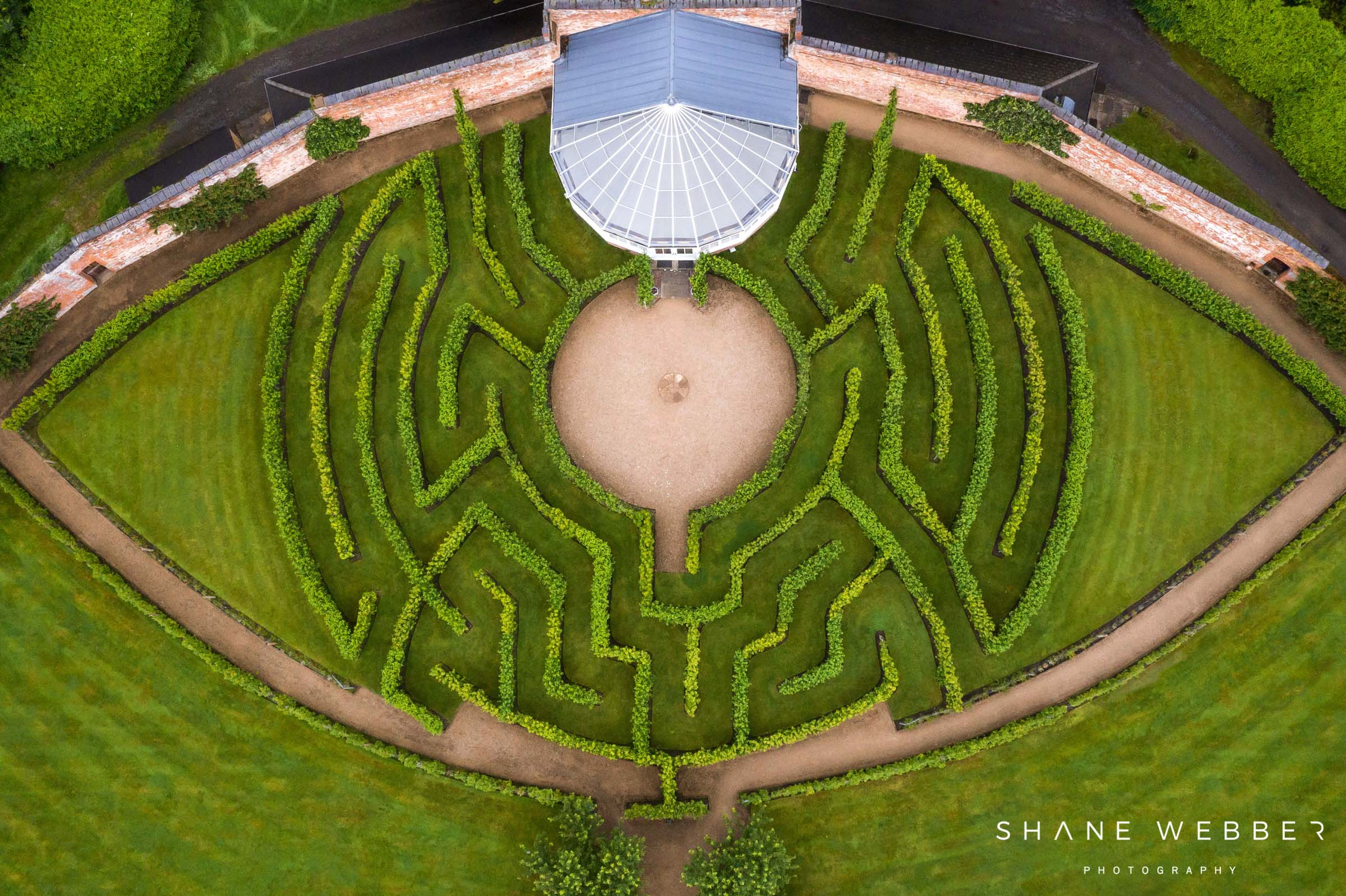 Combermere Abbey garden maze