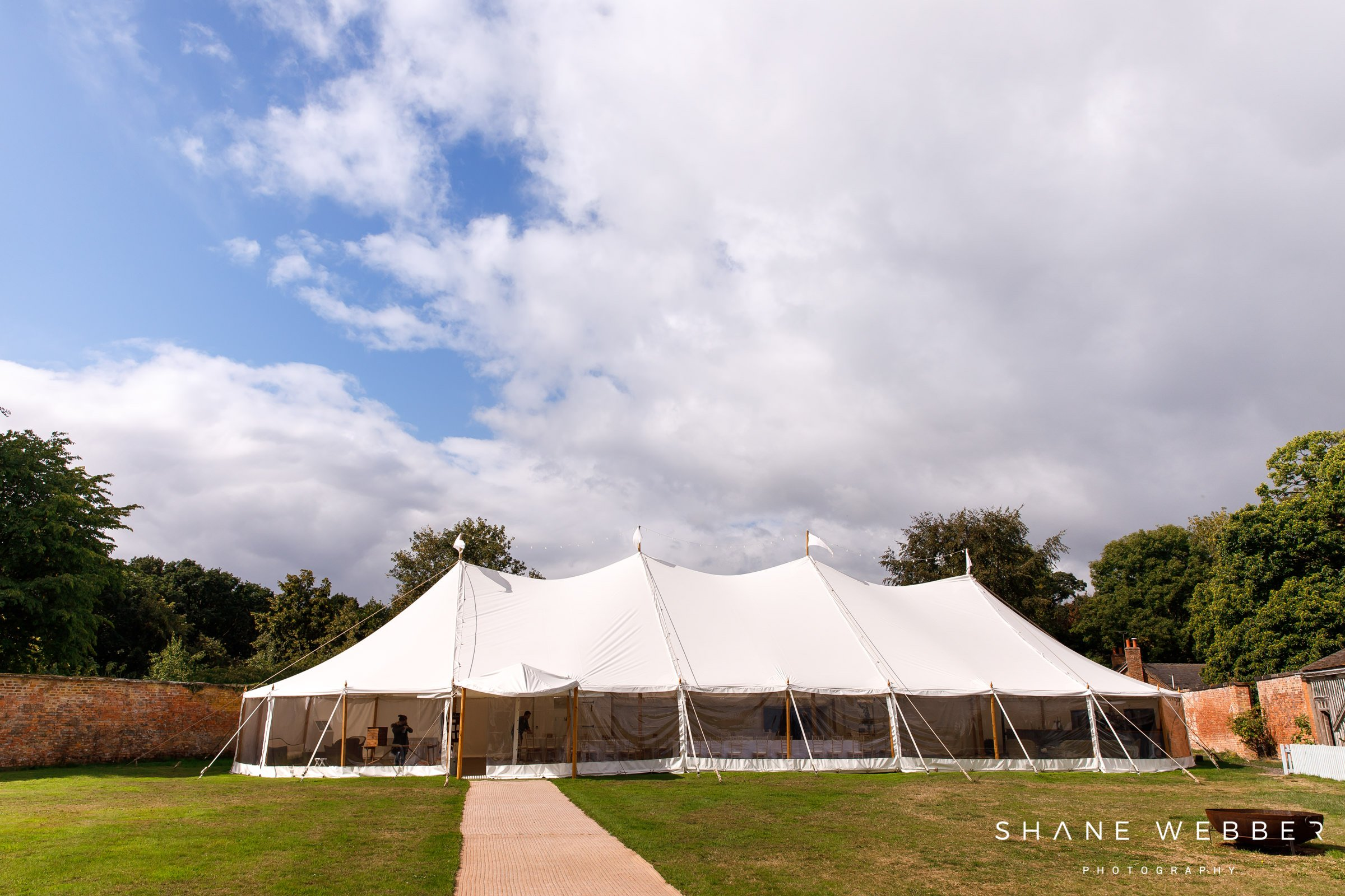dorfold hall wedding marquee