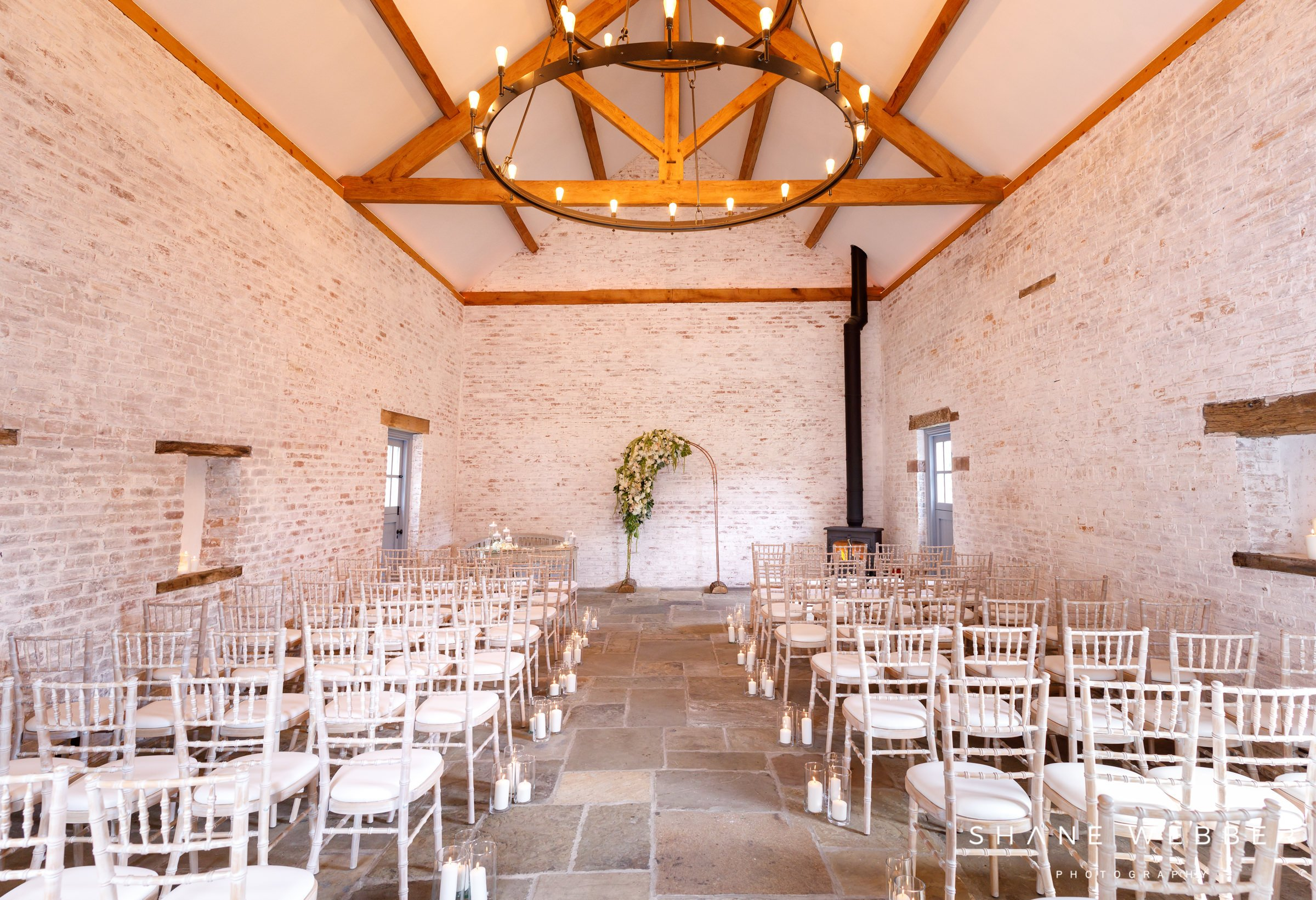 dorfold hall wedding ceremony barn