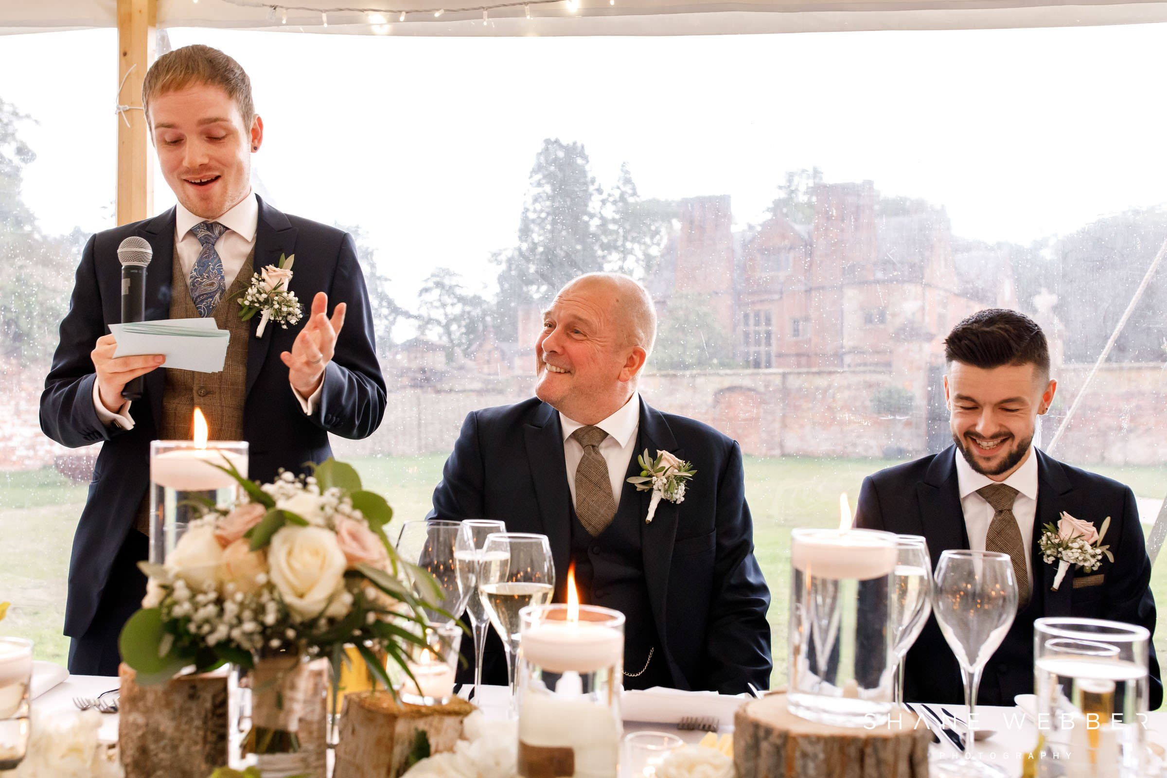 Dorfold Hall wedding speeches