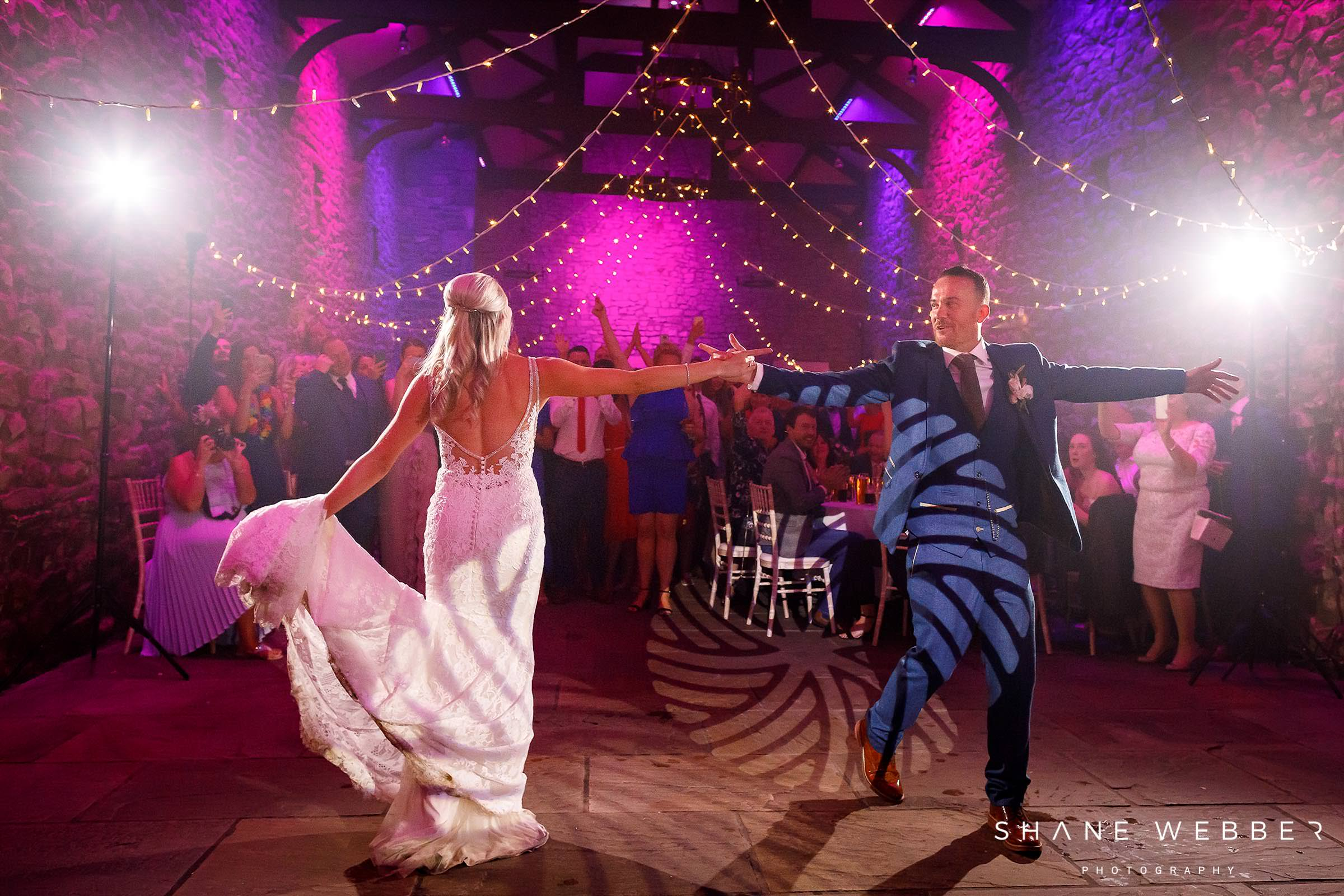 tithe barn browsholme hall first dance photography