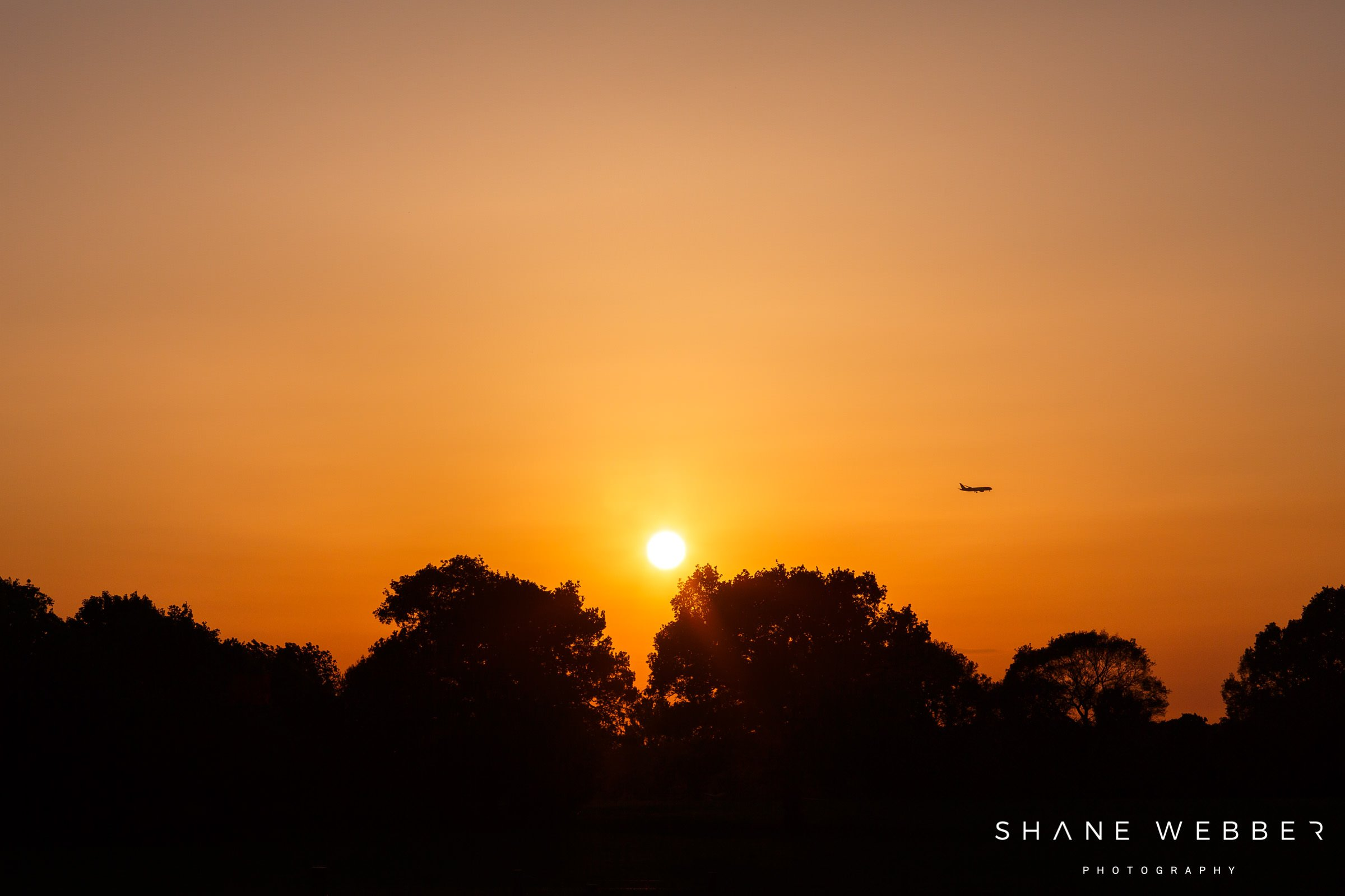 sunset over Thorpe Gardens