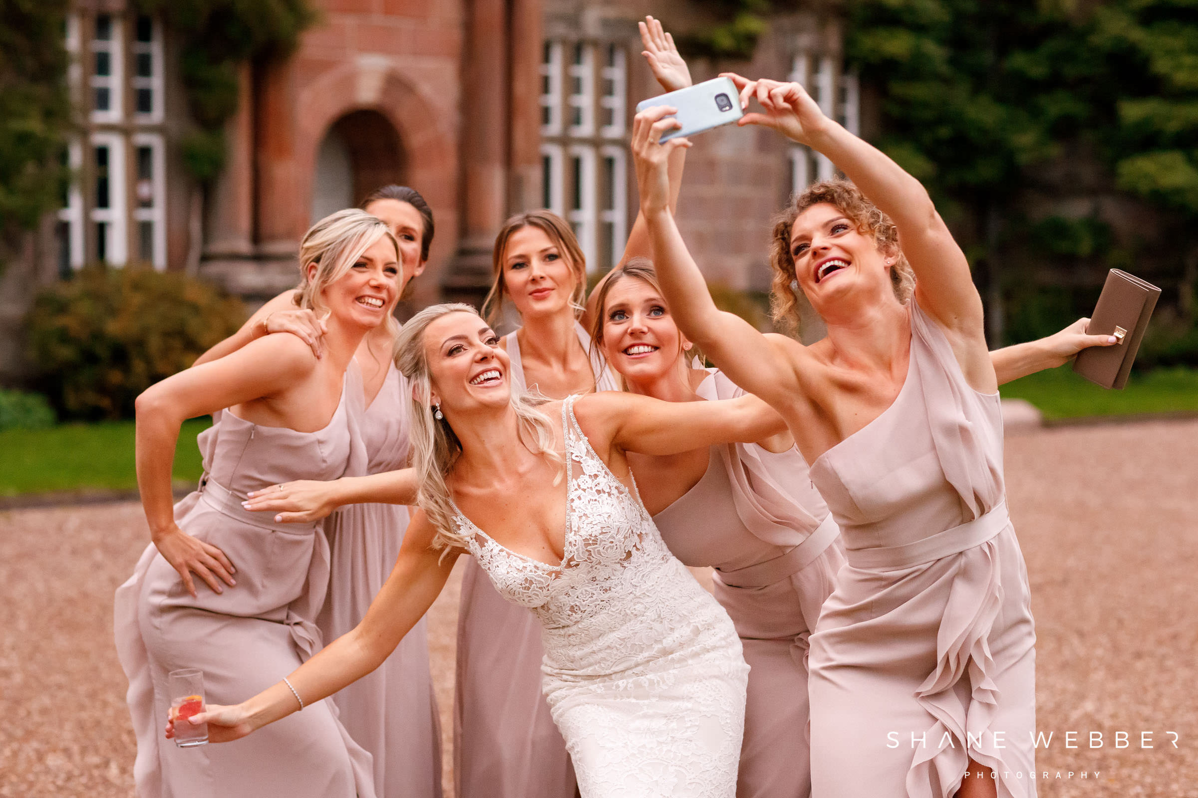 bridal party selfie