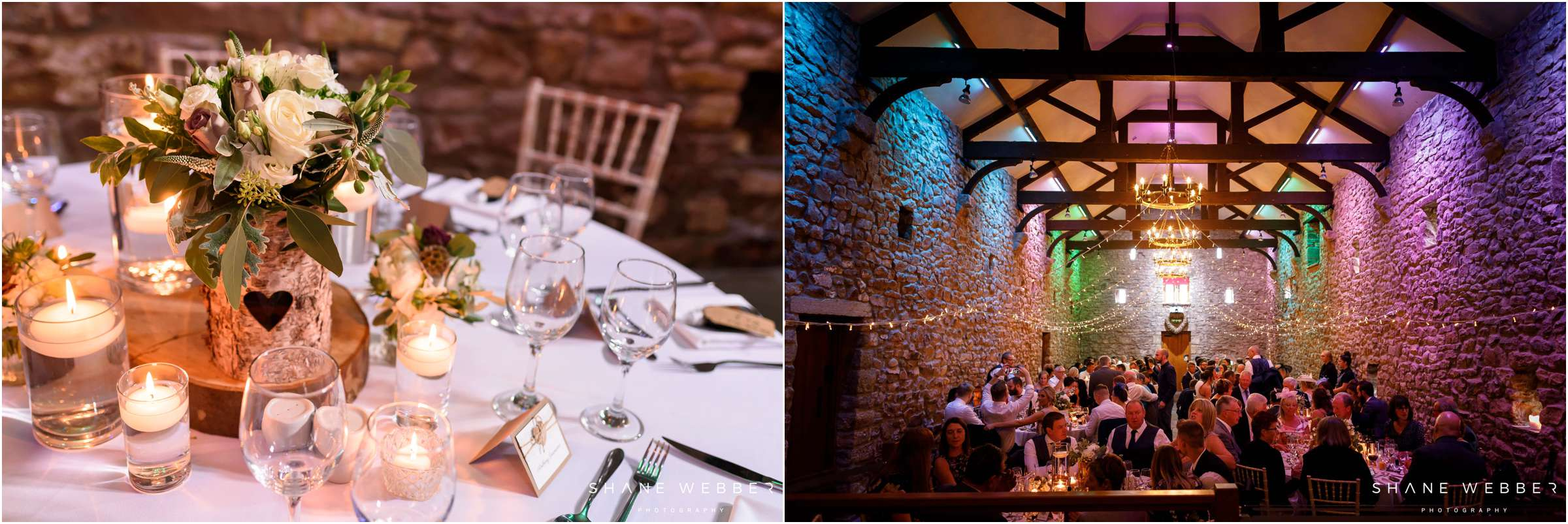Browsholme Hall and tithe barn wedding