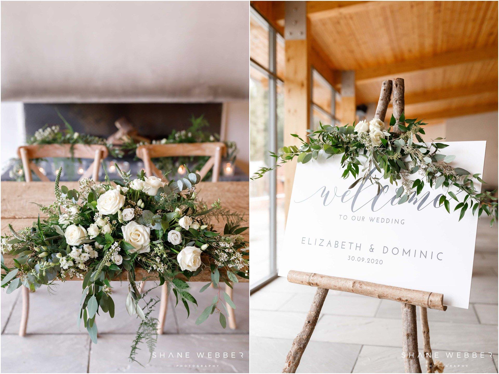 Ivison Lichfield ceremony flowers at Thorpe Gardens