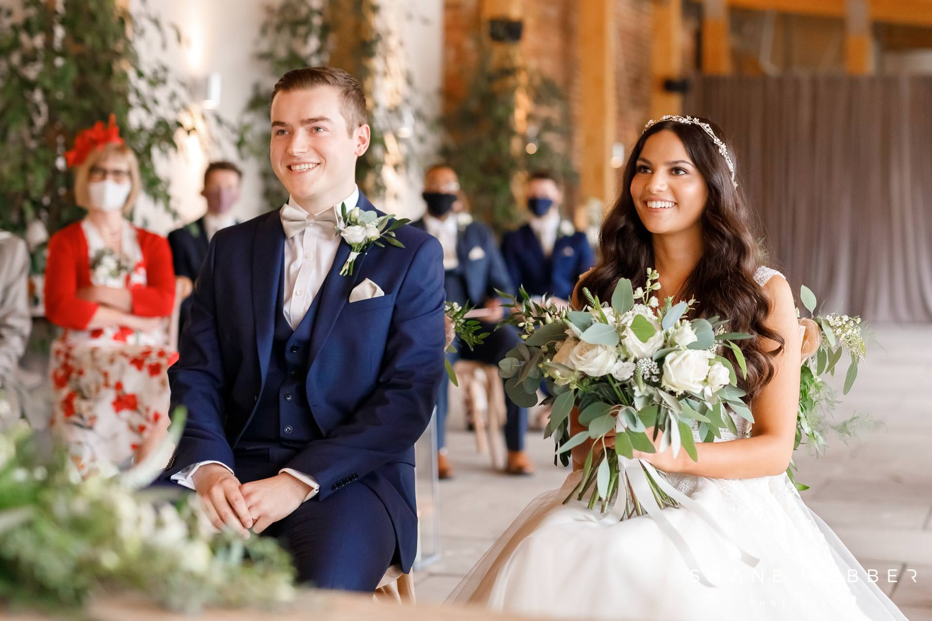 Wedding ceremony photography at Thorpe Gardens