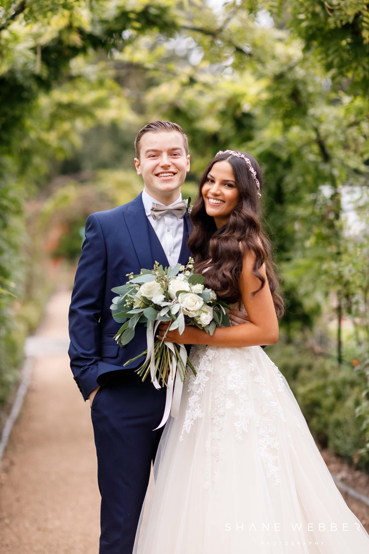 Couples portraits at Thorpe Gardens wedding venue