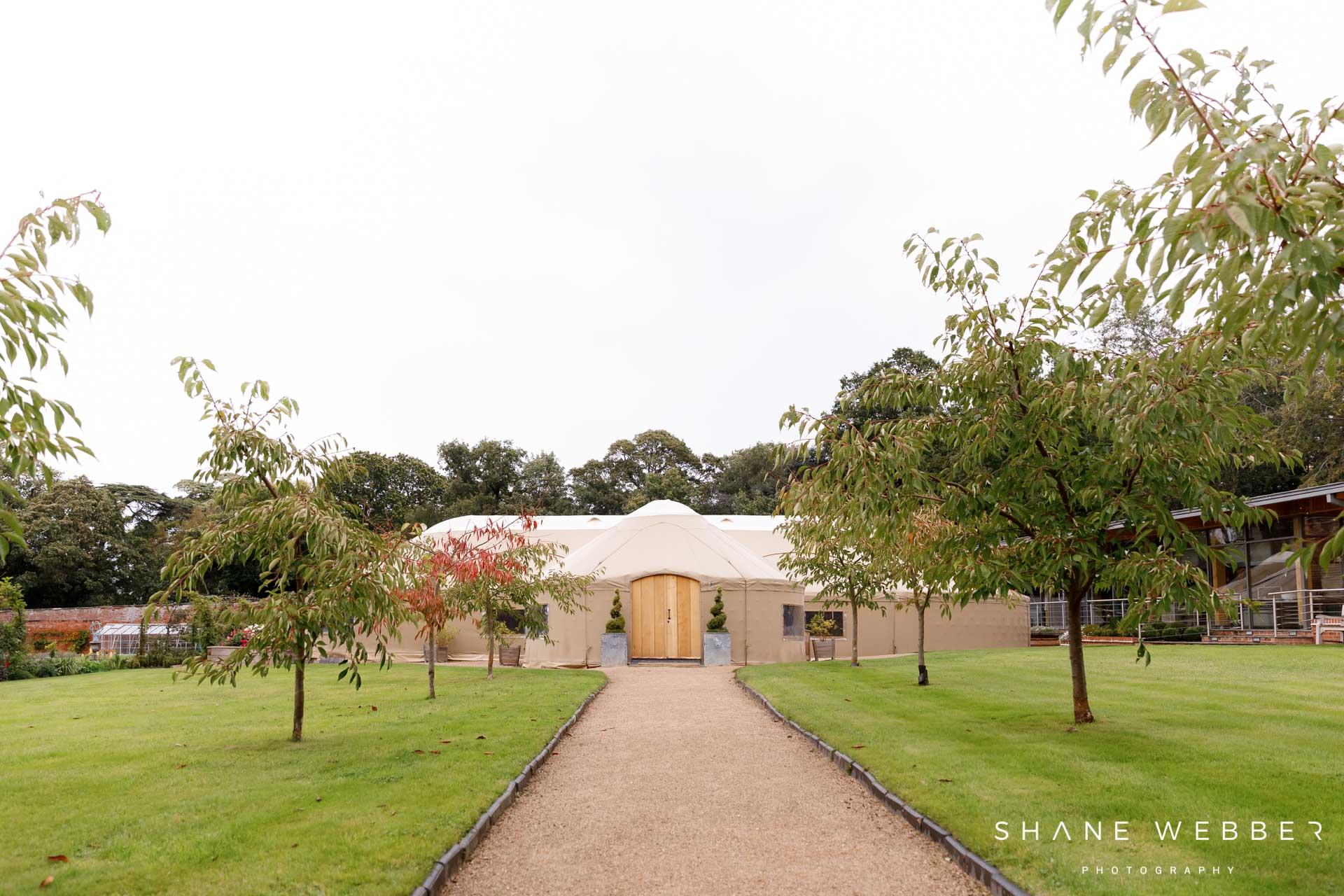 Thorpe Garden wedding yurt