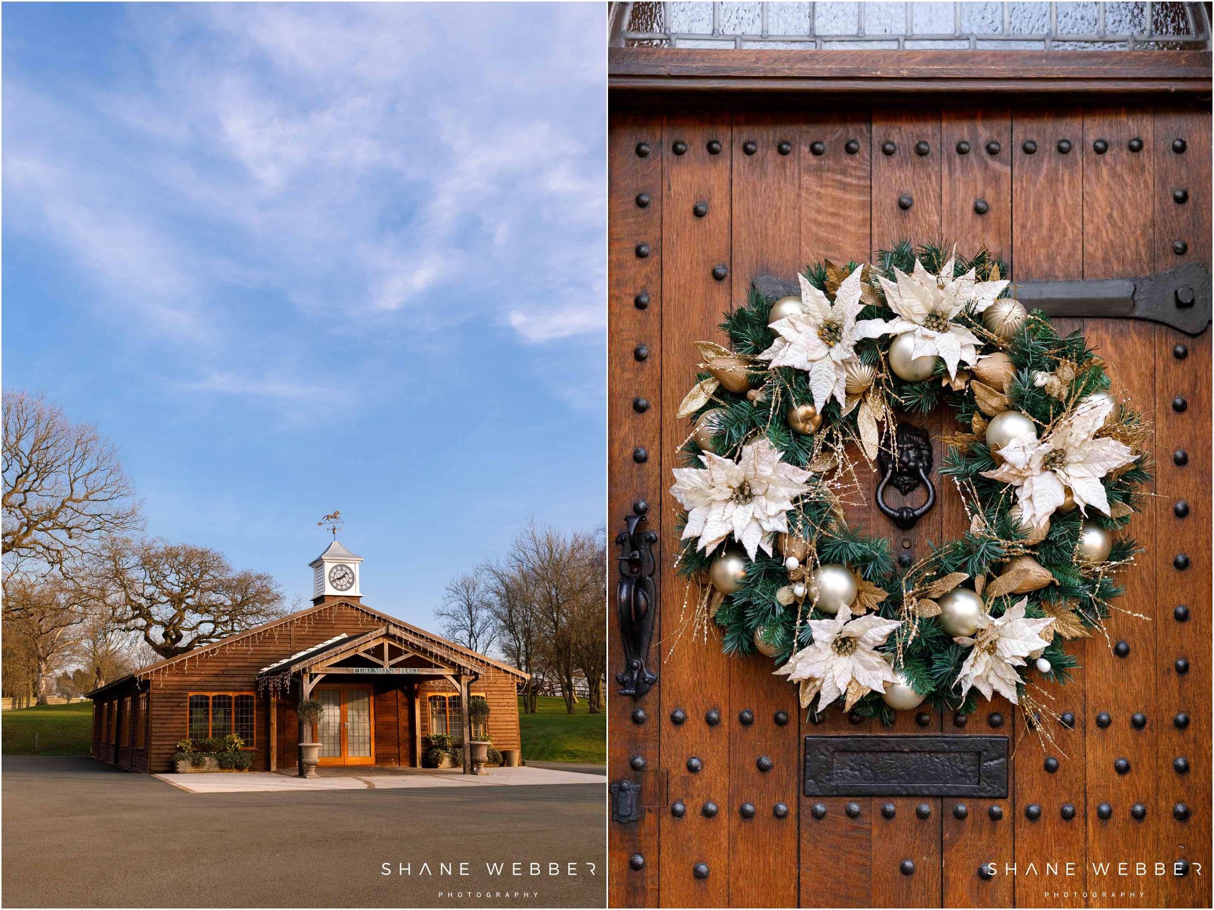 Colshaw Hall Christmas wedding