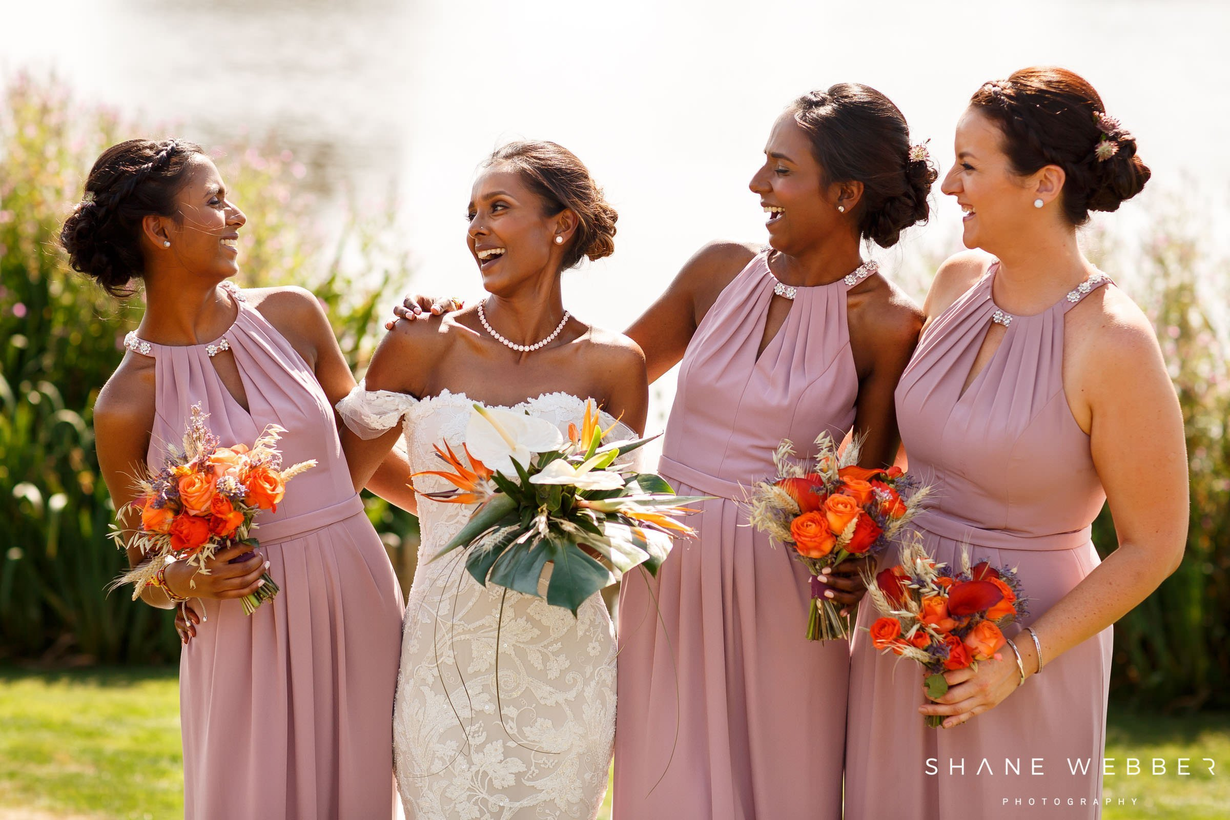 natural bridesmaids portrait