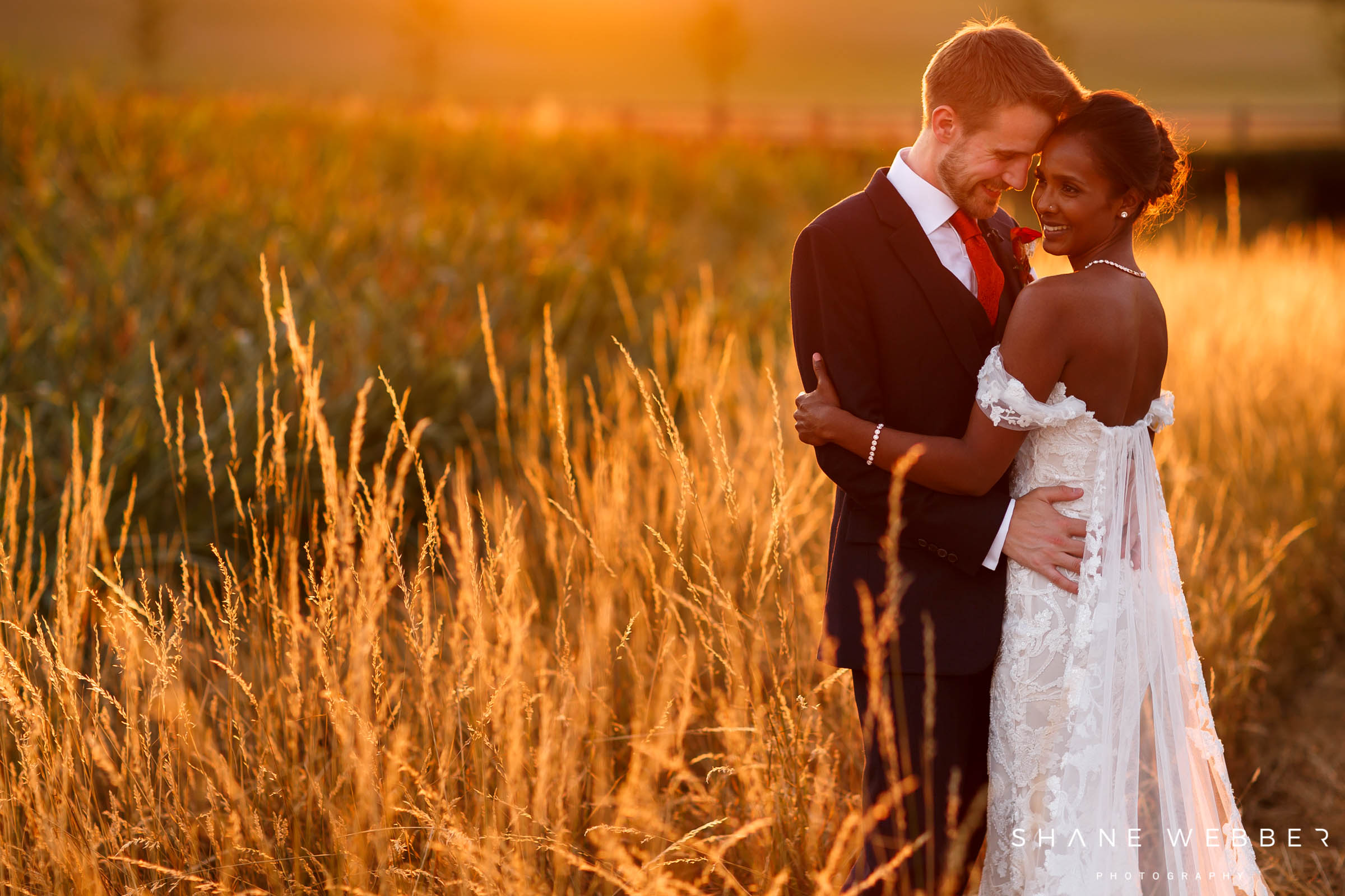 sunset wedding photo at Sandhole Oak Barn
