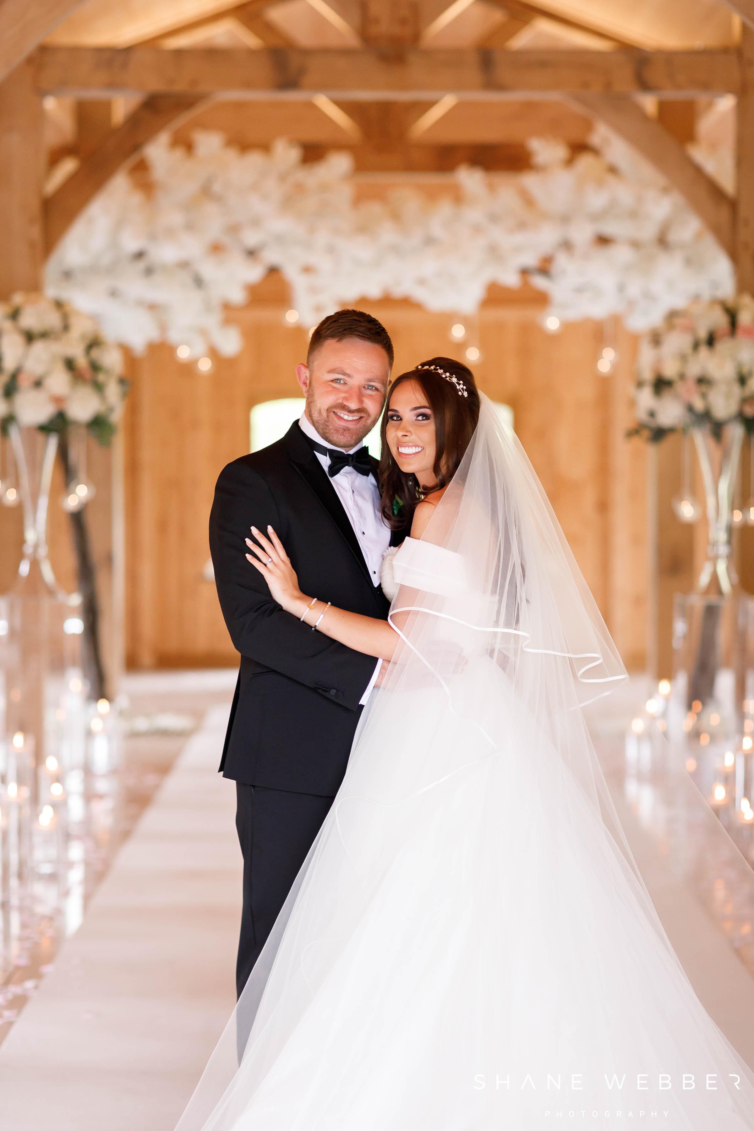 bride and groom Colshaw Hall