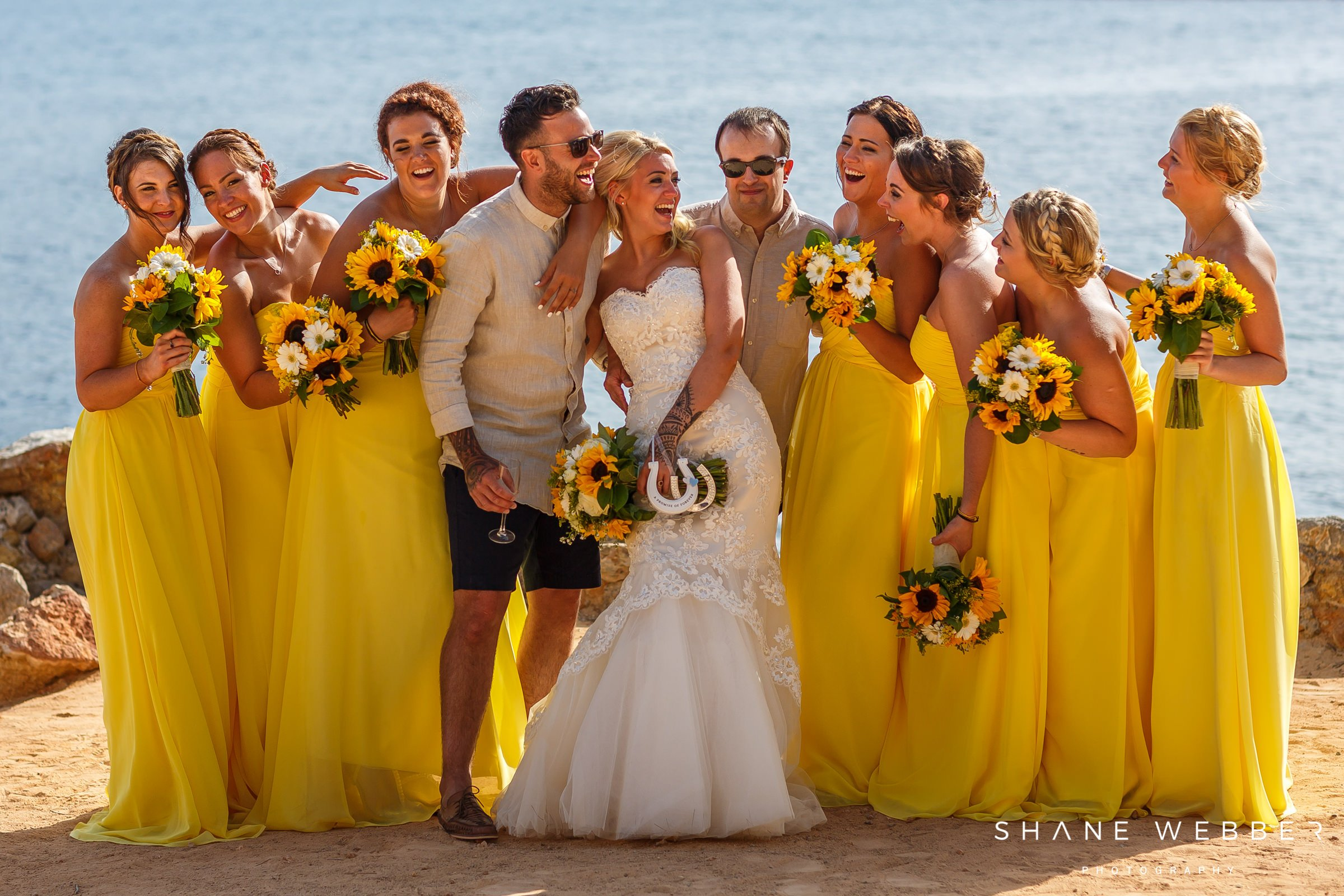 yellow bridesmaids dresses