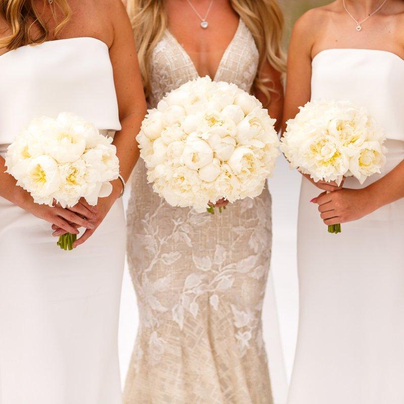 Champagne coloured Berta bridal dress