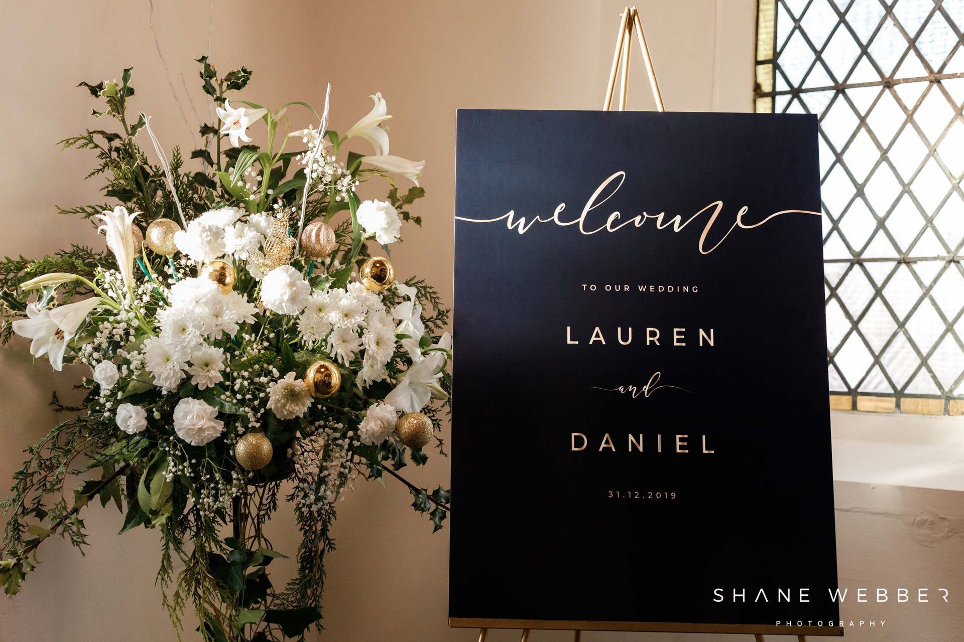 wedding ceremony welcome sign
