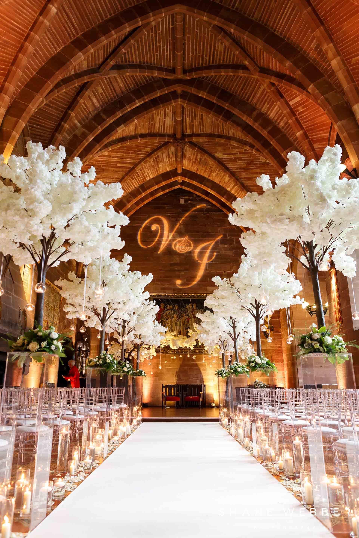 Luxury wedding decor ideas peckforton castle