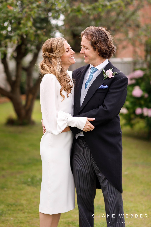back garden intimate wedding