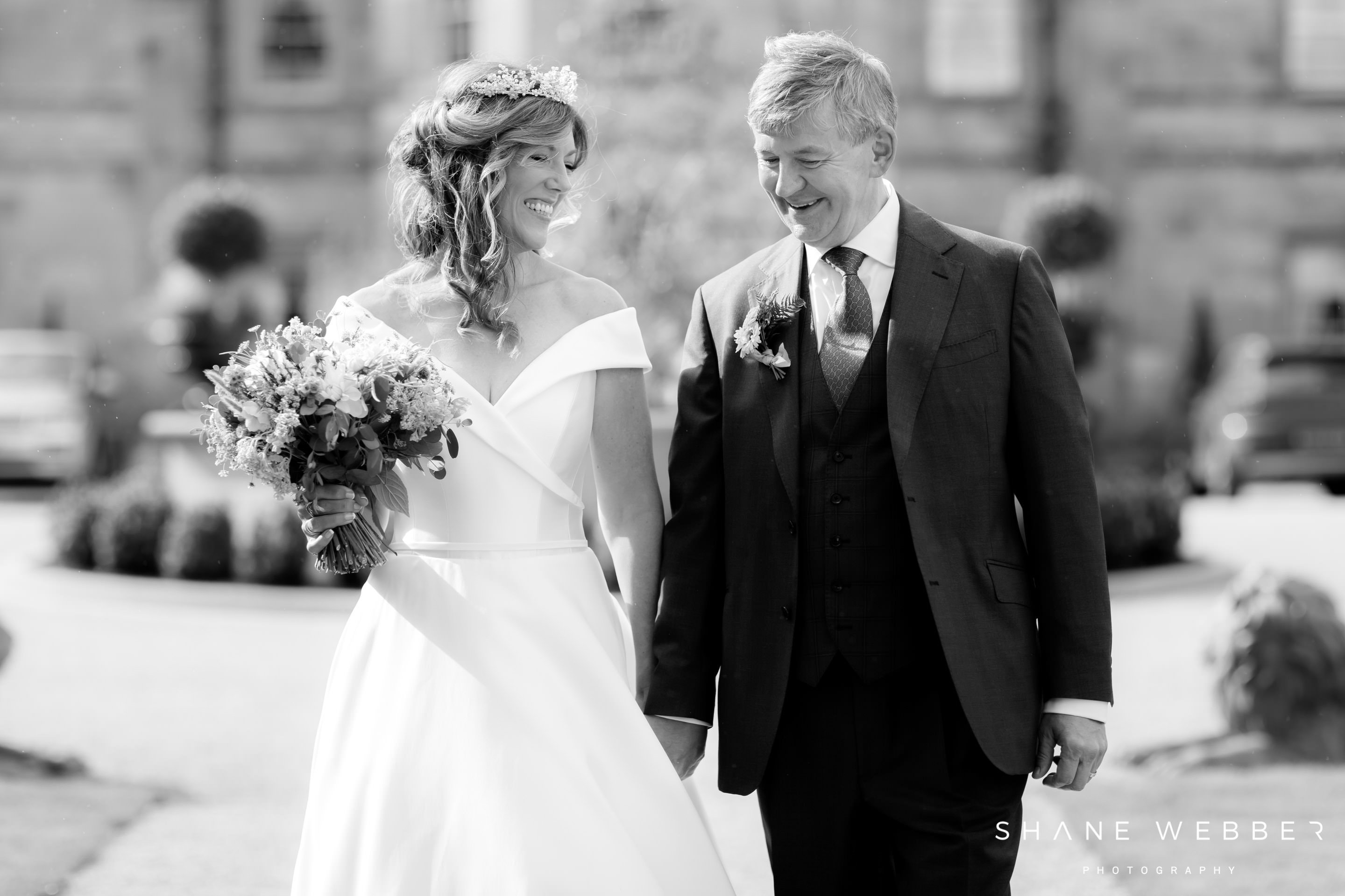 Grantley Hall black and white wedding photography