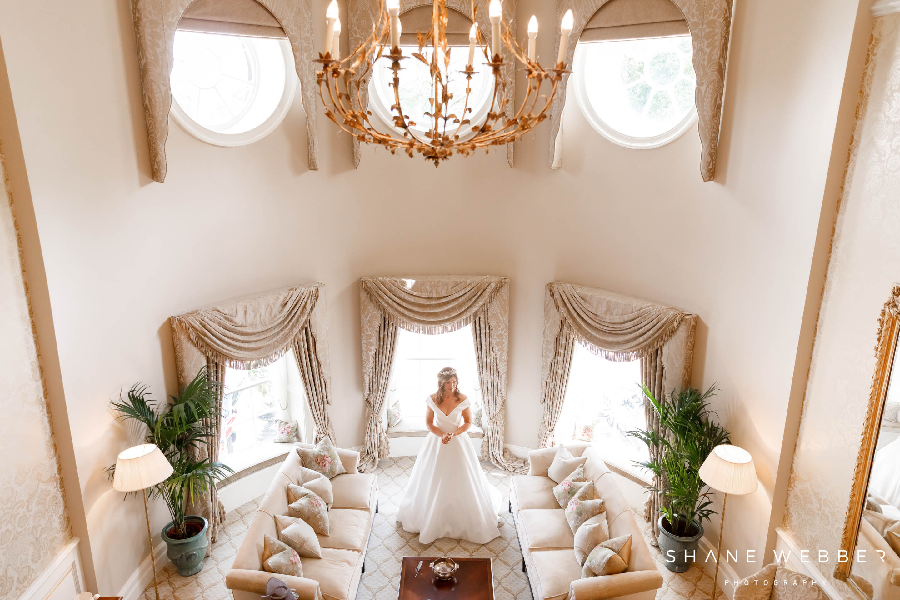 Grantley Hall wedding photography in the bridal suite