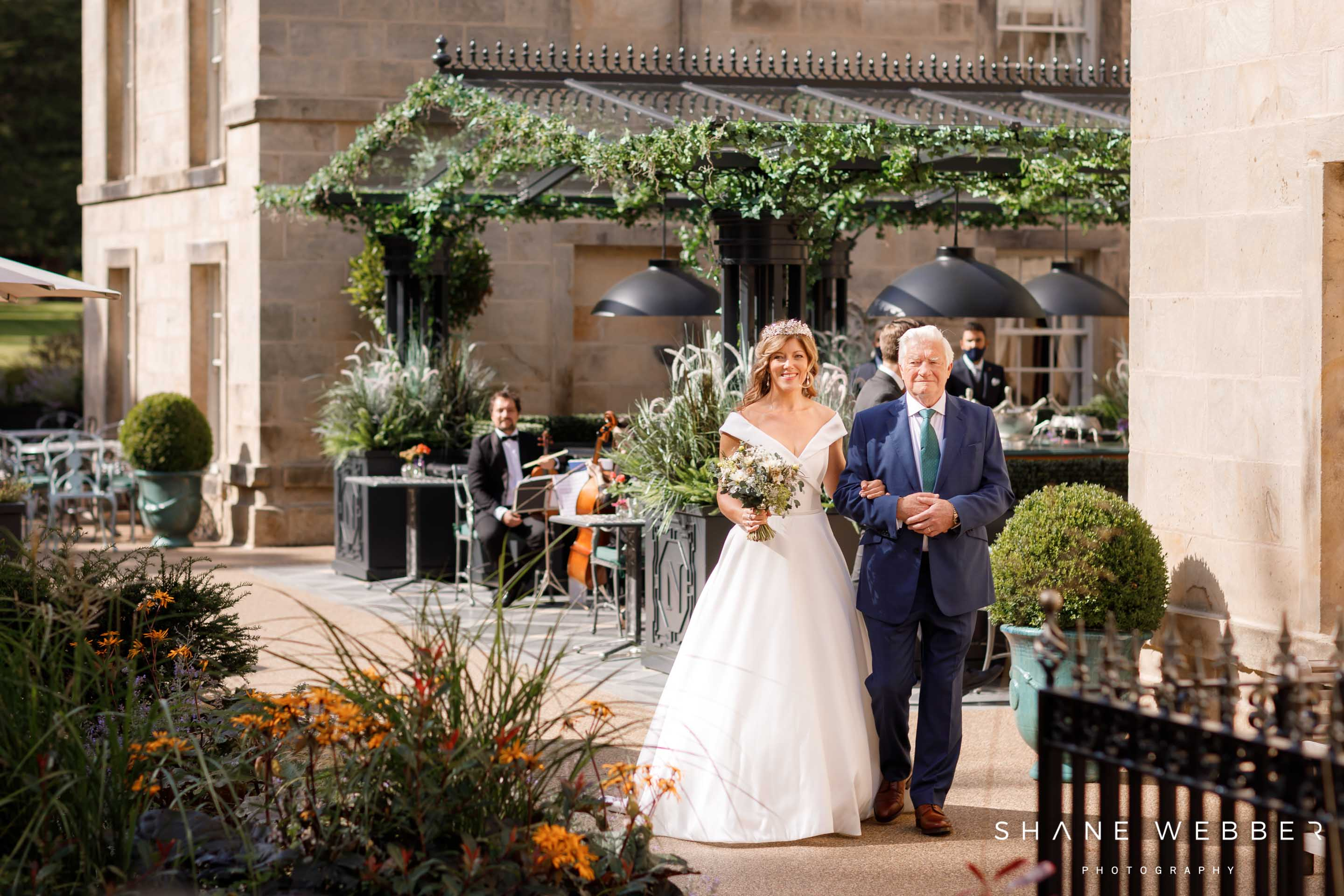 Luxury outdoor wedding at Grantley Hall