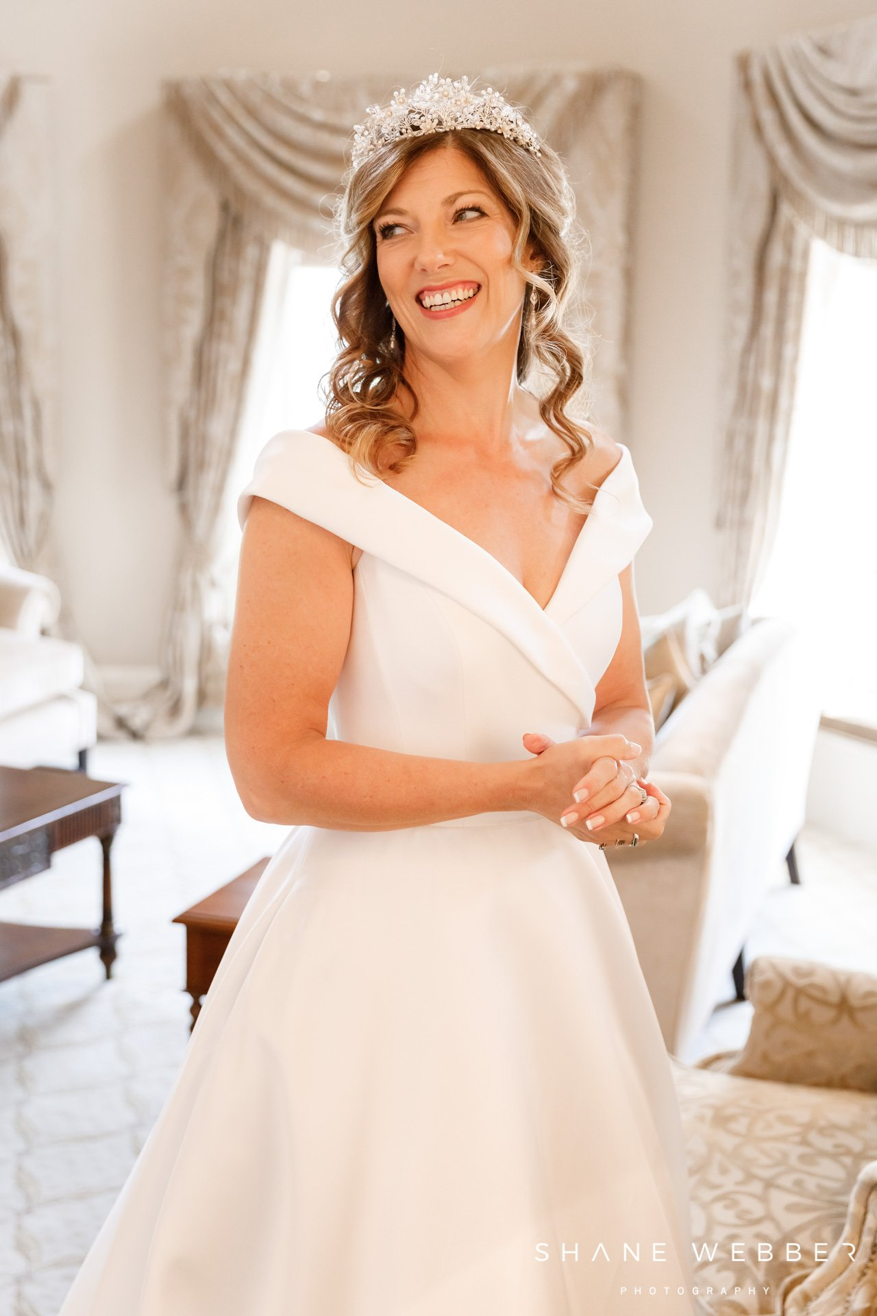 Luxury bridal preparation photo at Grantley Hall